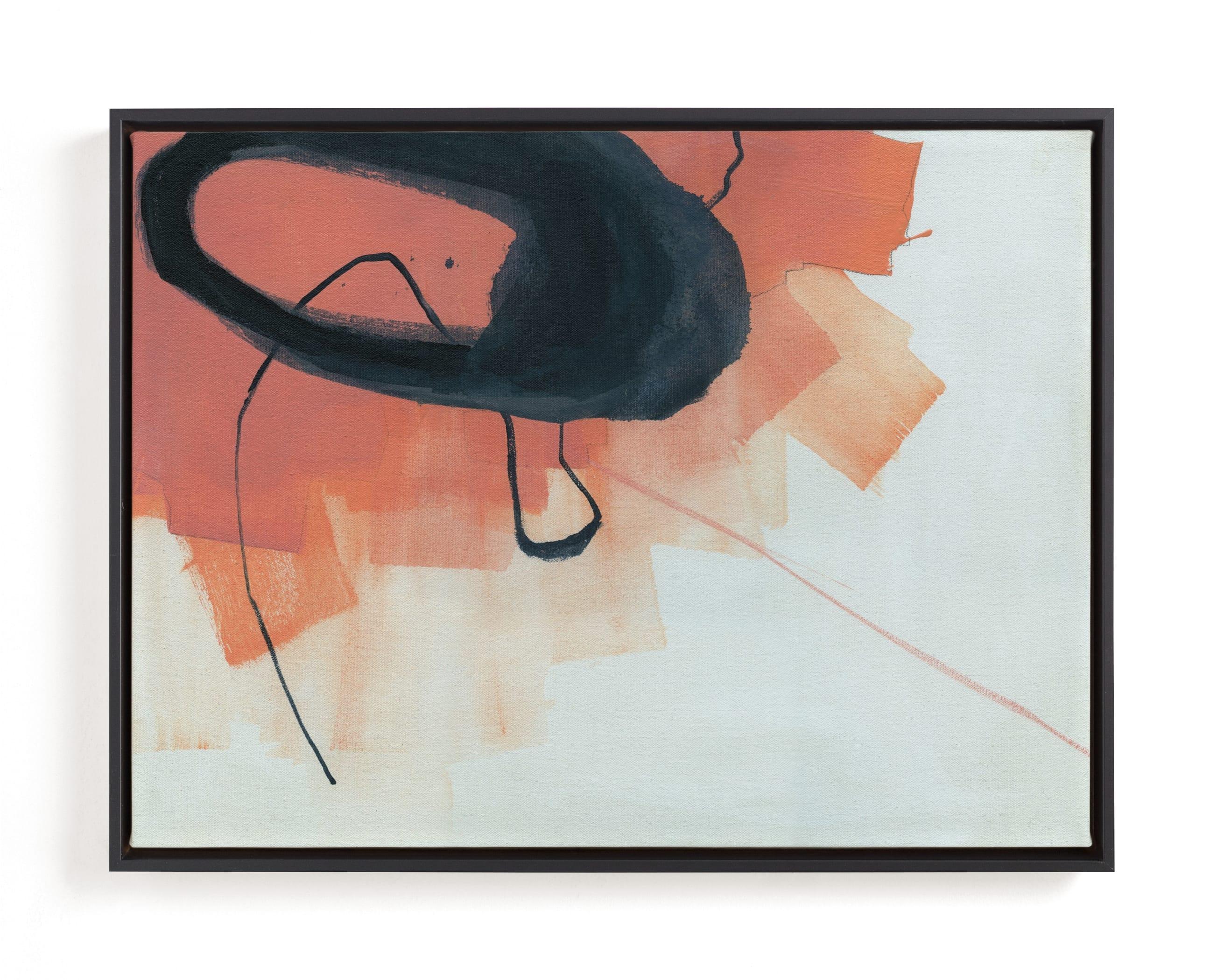 Orange Abstraction Art Print