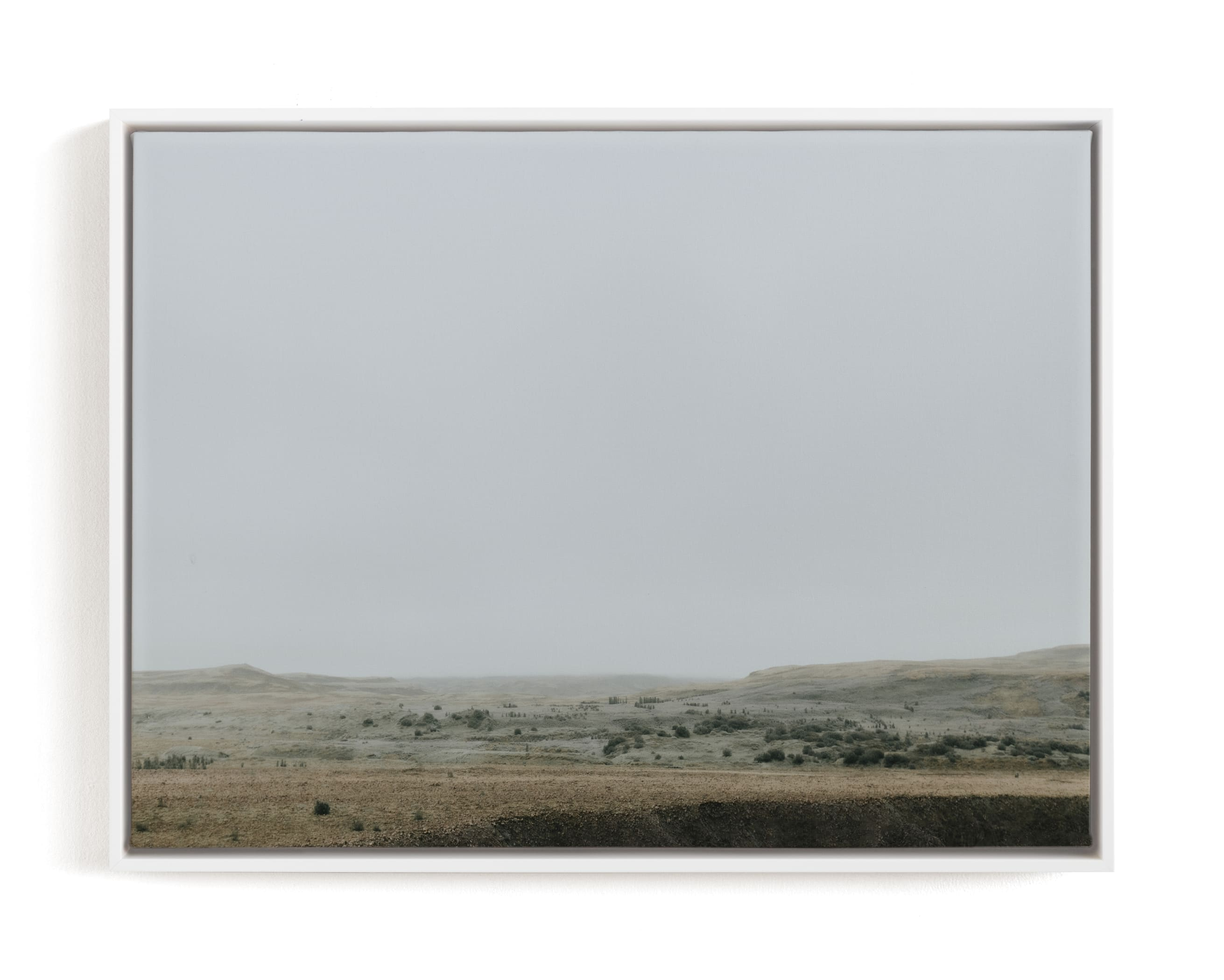 Landscape under Fog Art Print