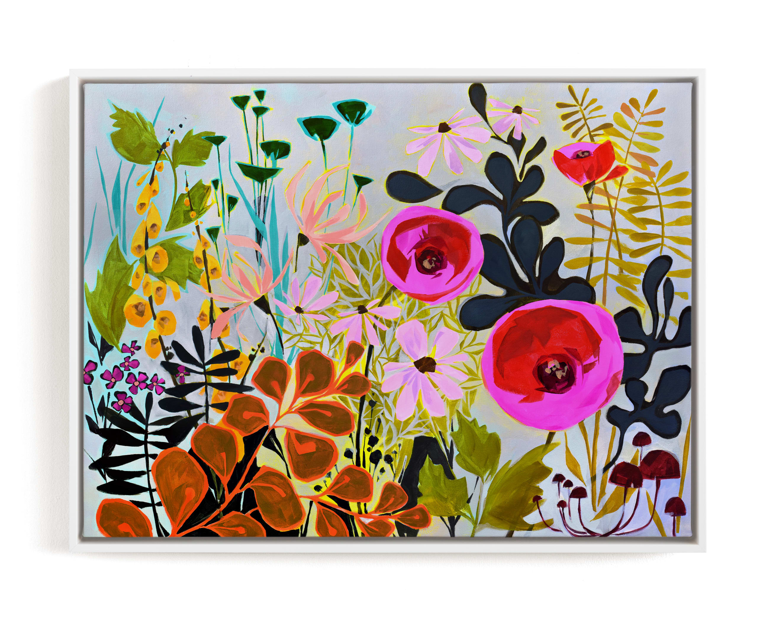 """""""How Does Your Garden Grow?"""" - Limited Edition Art Print by Jess Franks in beautiful frame options and a variety of sizes."""