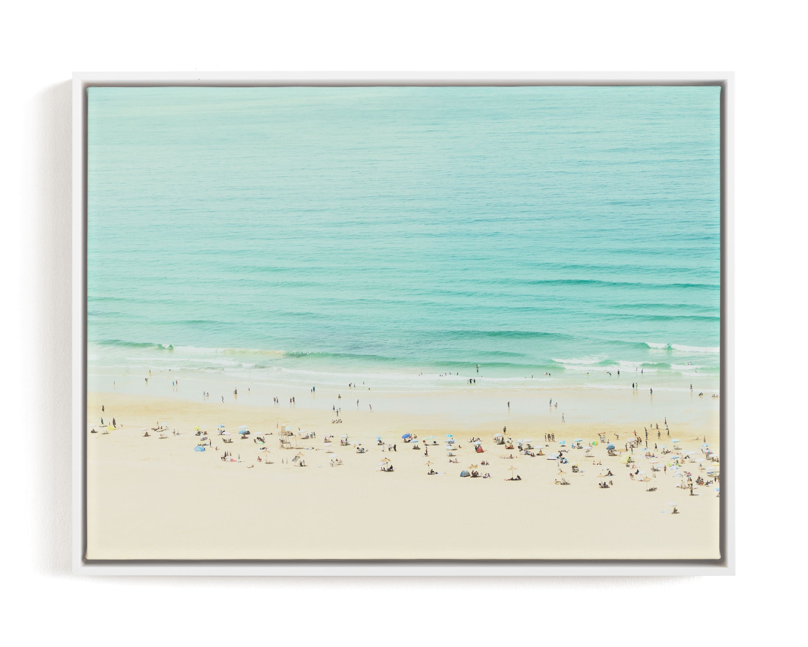 """""""Remembering a day by the Sea"""" - Limited Edition Art Print by Jacquelyn Sloane Siklos in beautiful frame options and a variety of sizes."""