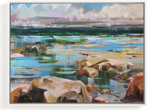 This is a blue art by Jess Franks called Turning Tides.