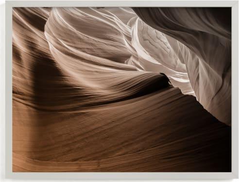 This is a brown art by David Michuki called Caramel Canyon I.