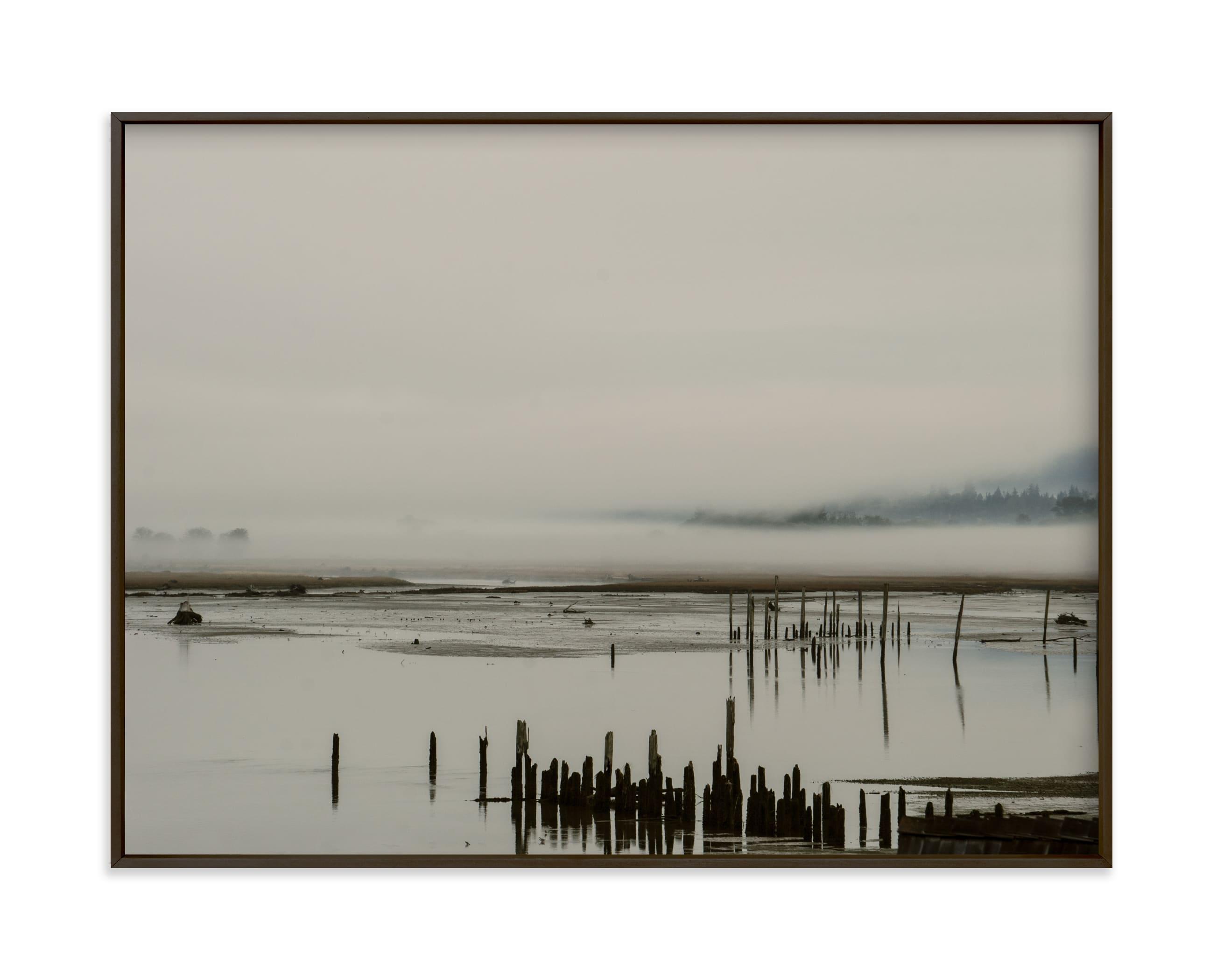 Fog at the Beach in the PNW Art Print