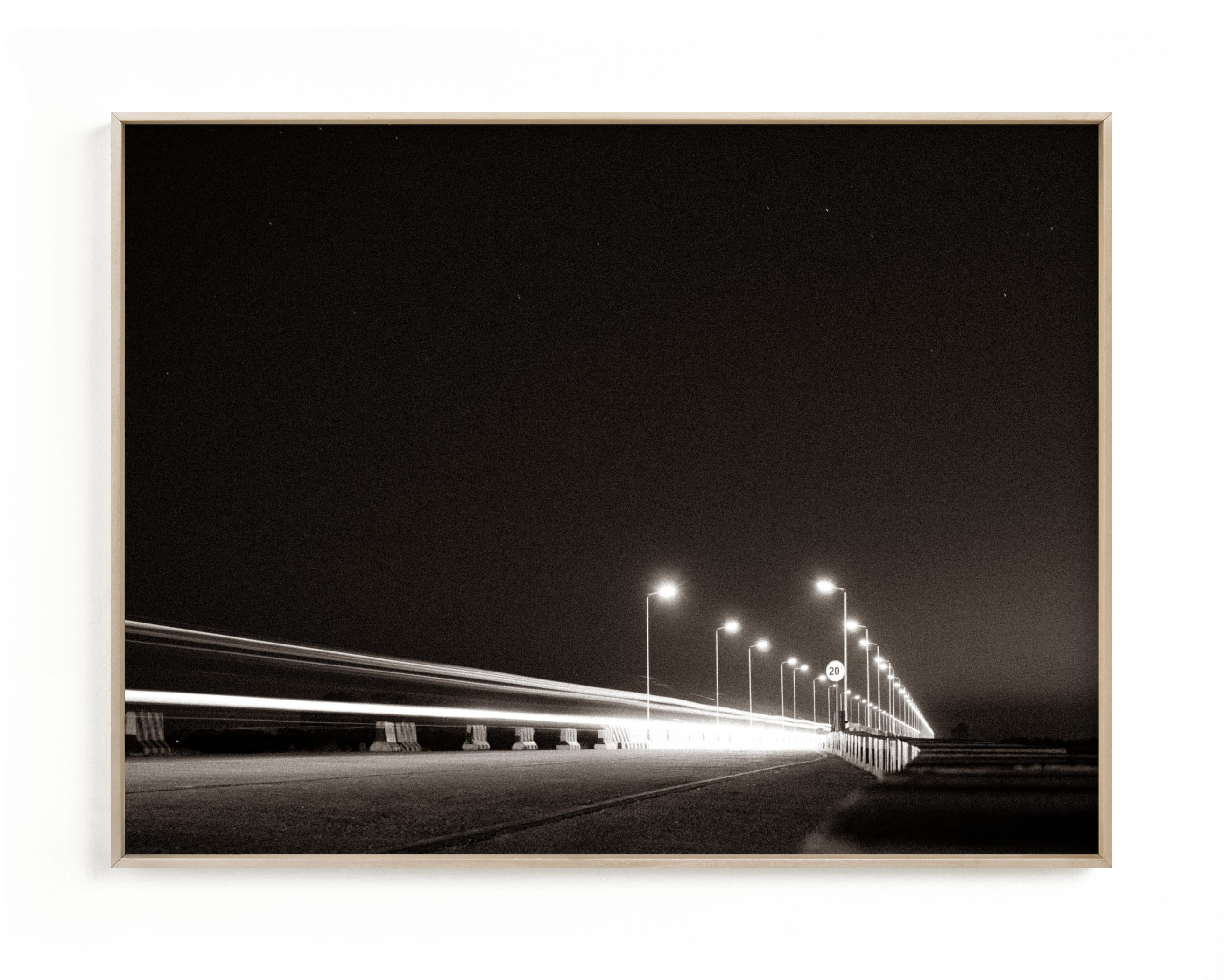 This is a grey art by Christian Fernandez called The Fast Bridge.