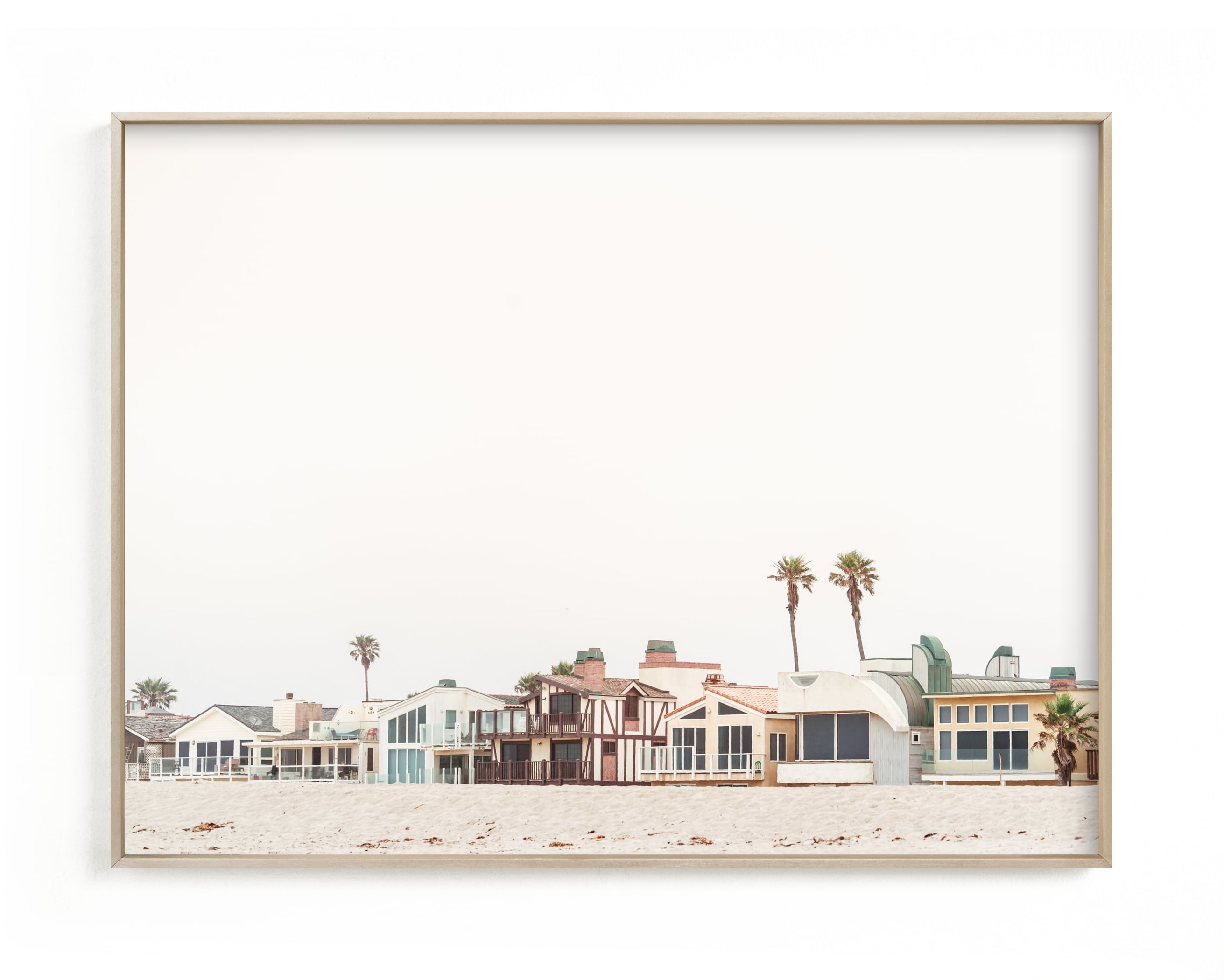 """Beach Houses"" - Limited Edition Art Print by Kamala Nahas in beautiful frame options and a variety of sizes."