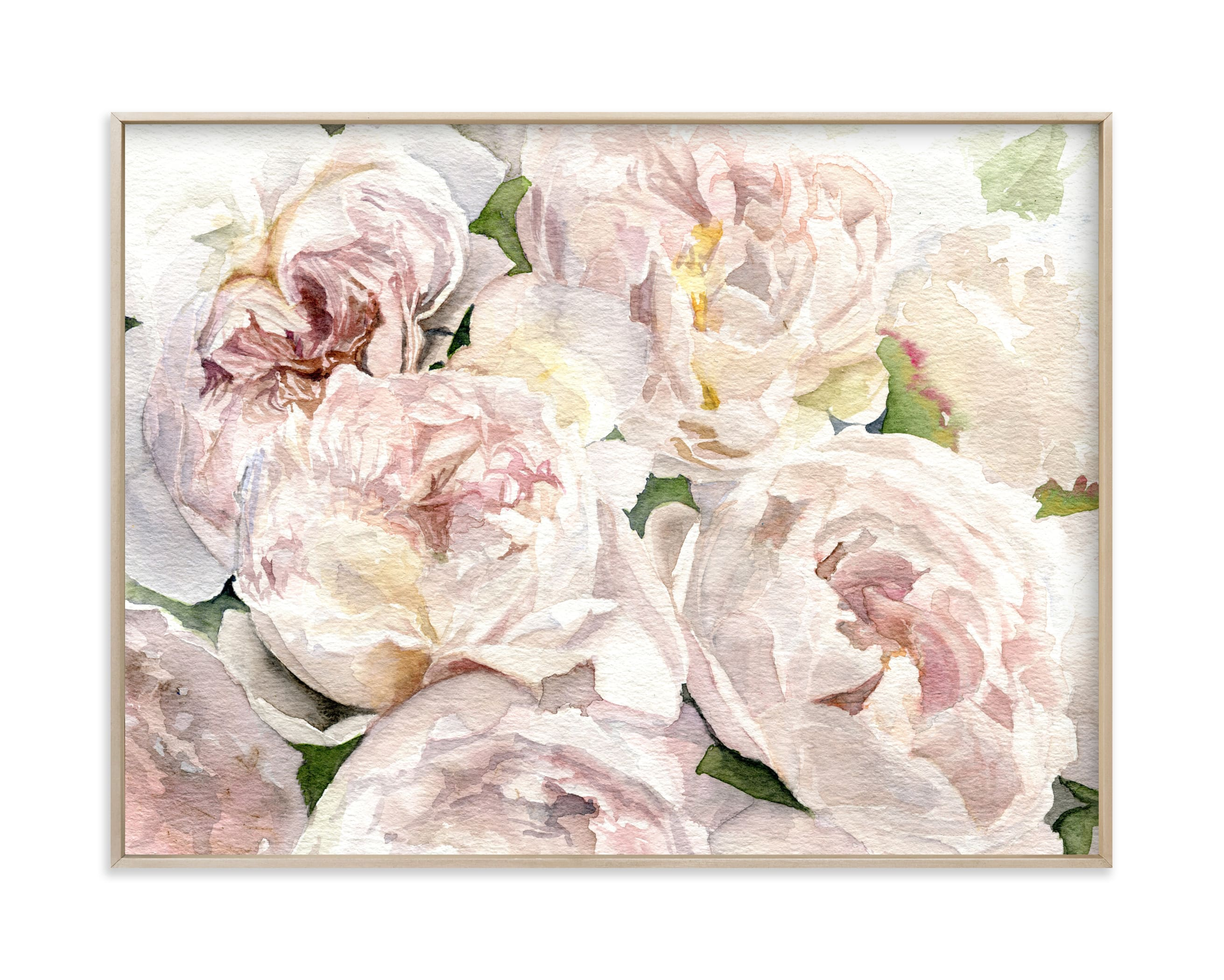 """""""Bushel of Pink Peonies"""" by Jess Blazejewski in beautiful frame options and a variety of sizes."""