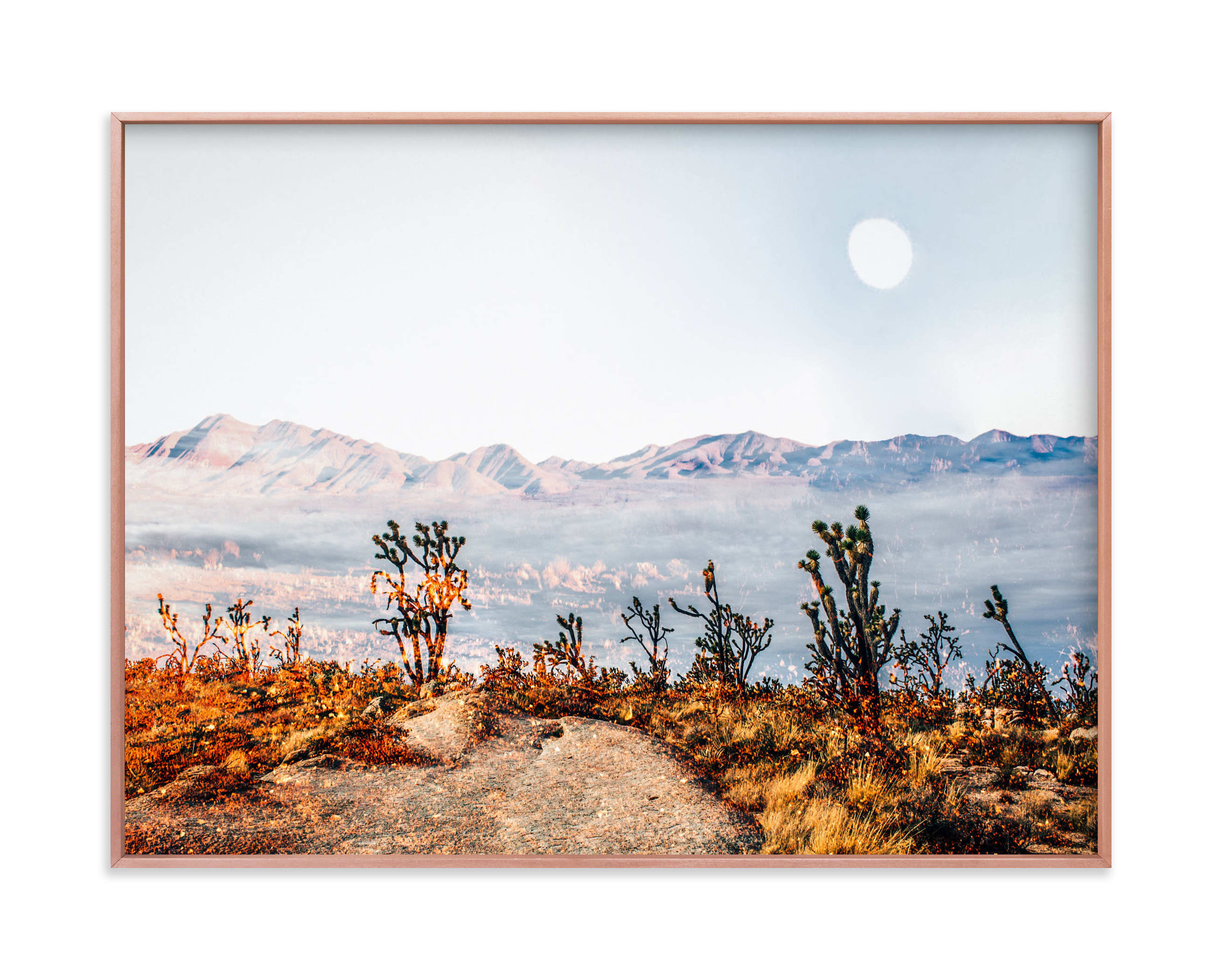 This is a blue art by Kate Baird called Desert Super Moon.
