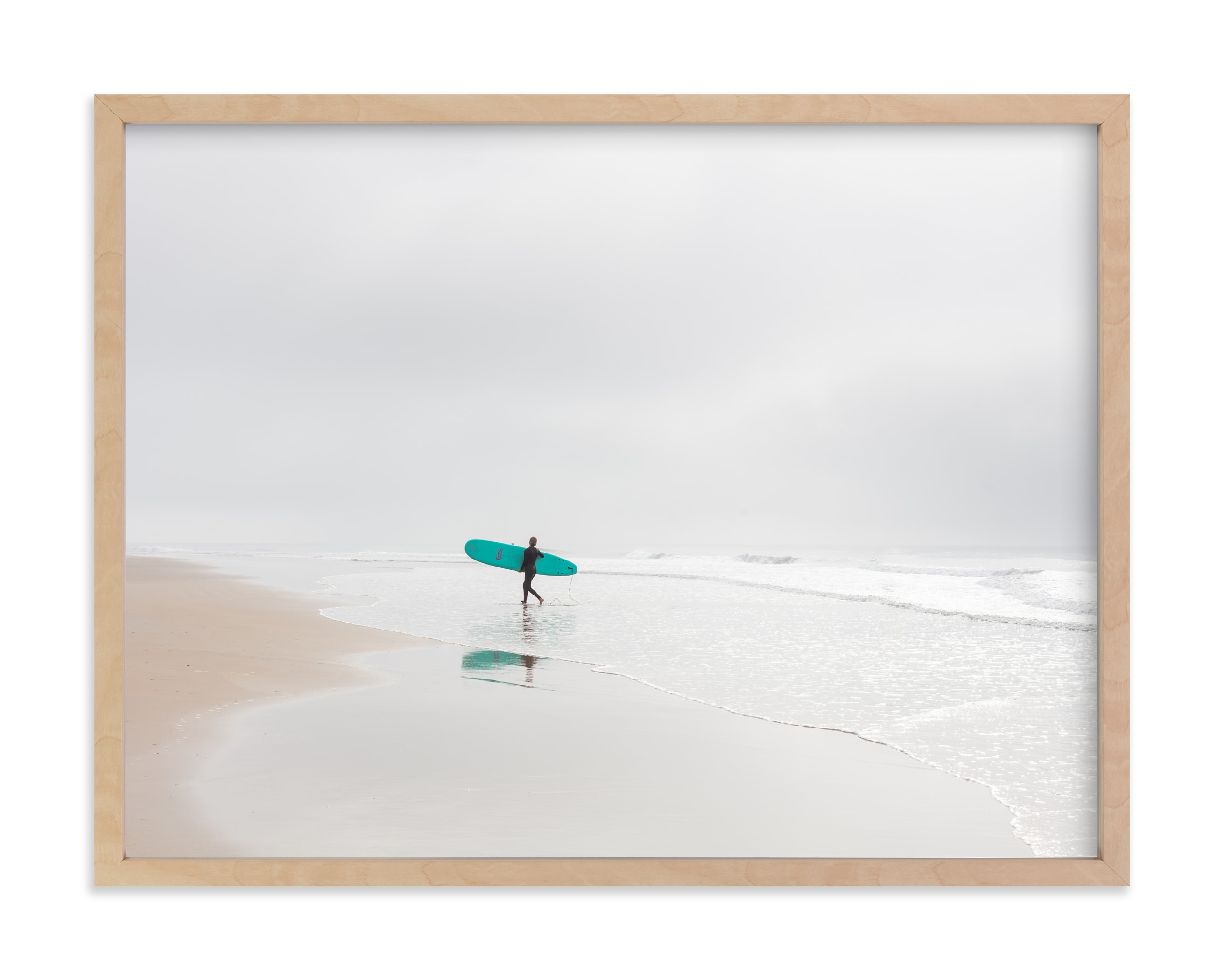 """""""California Surf"""" - Limited Edition Art Print by Jessica C. Nugent in beautiful frame options and a variety of sizes."""