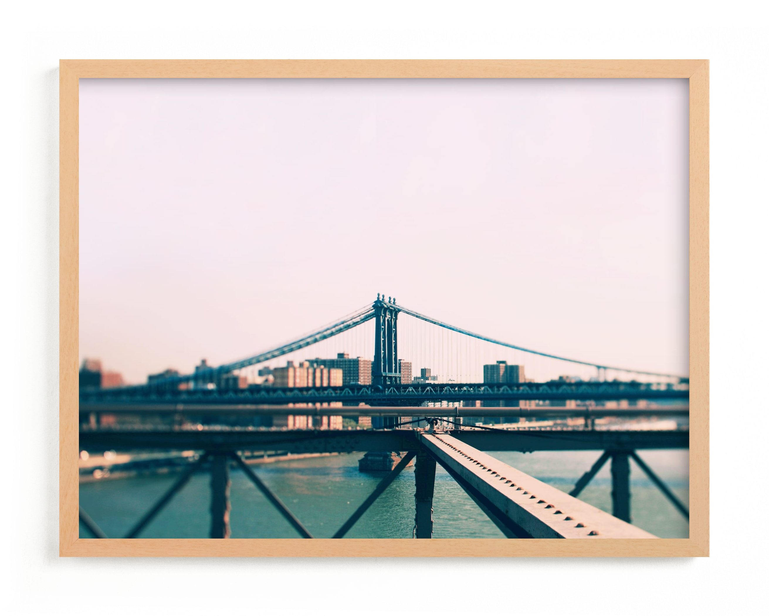 """""""Bridges Of New York #8"""" - Limited Edition Art Print by ALICIA BOCK in beautiful frame options and a variety of sizes."""