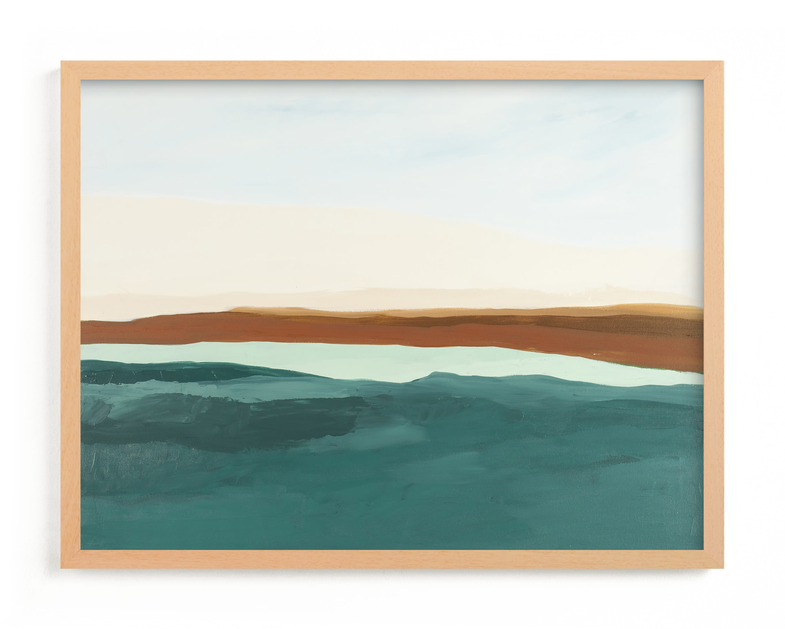 """Fall Abstract Seascape"" - Limited Edition Art Print by Caryn Owen in beautiful frame options and a variety of sizes."