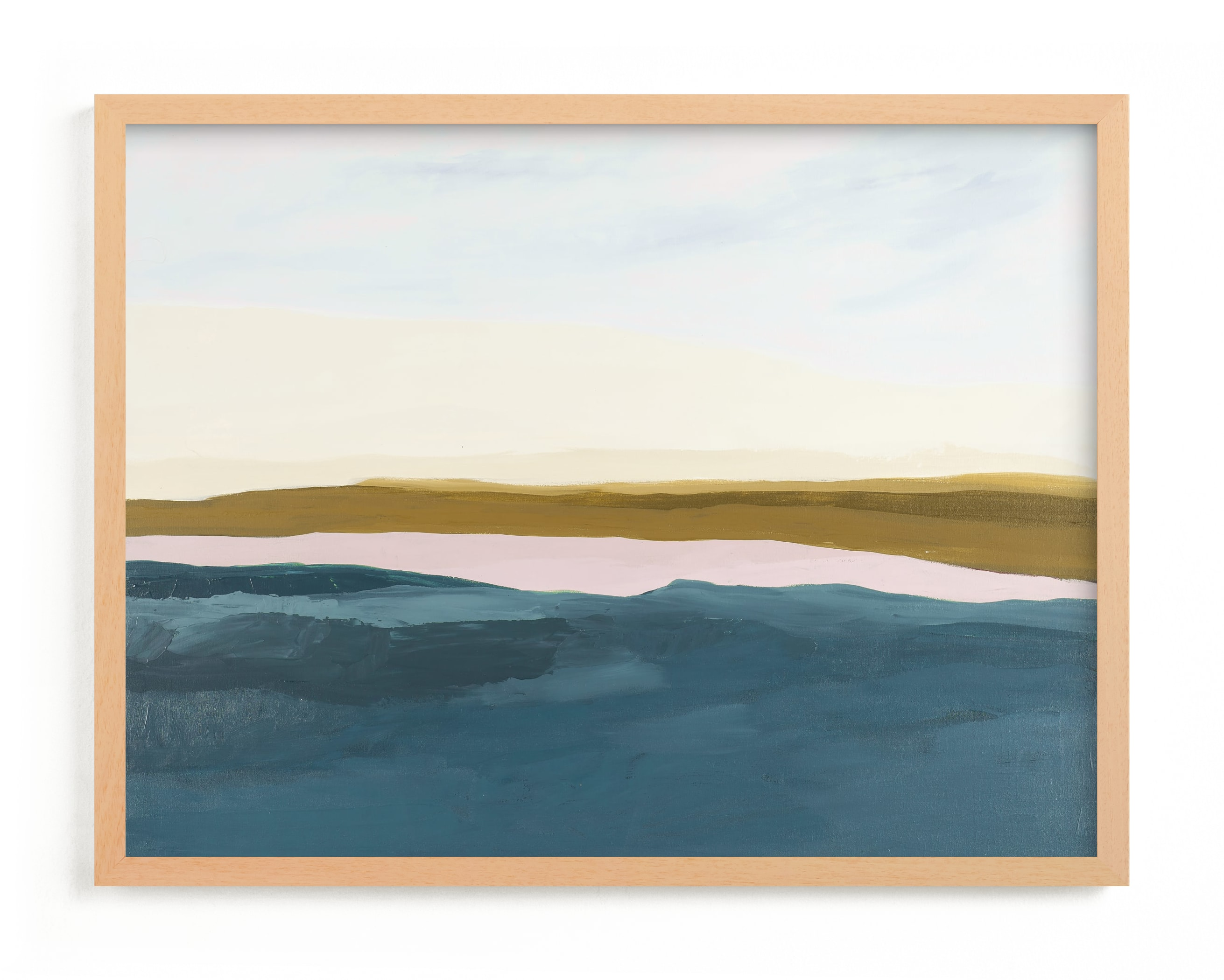 This is a blue art by Caryn Owen called Fall Abstract Seascape.