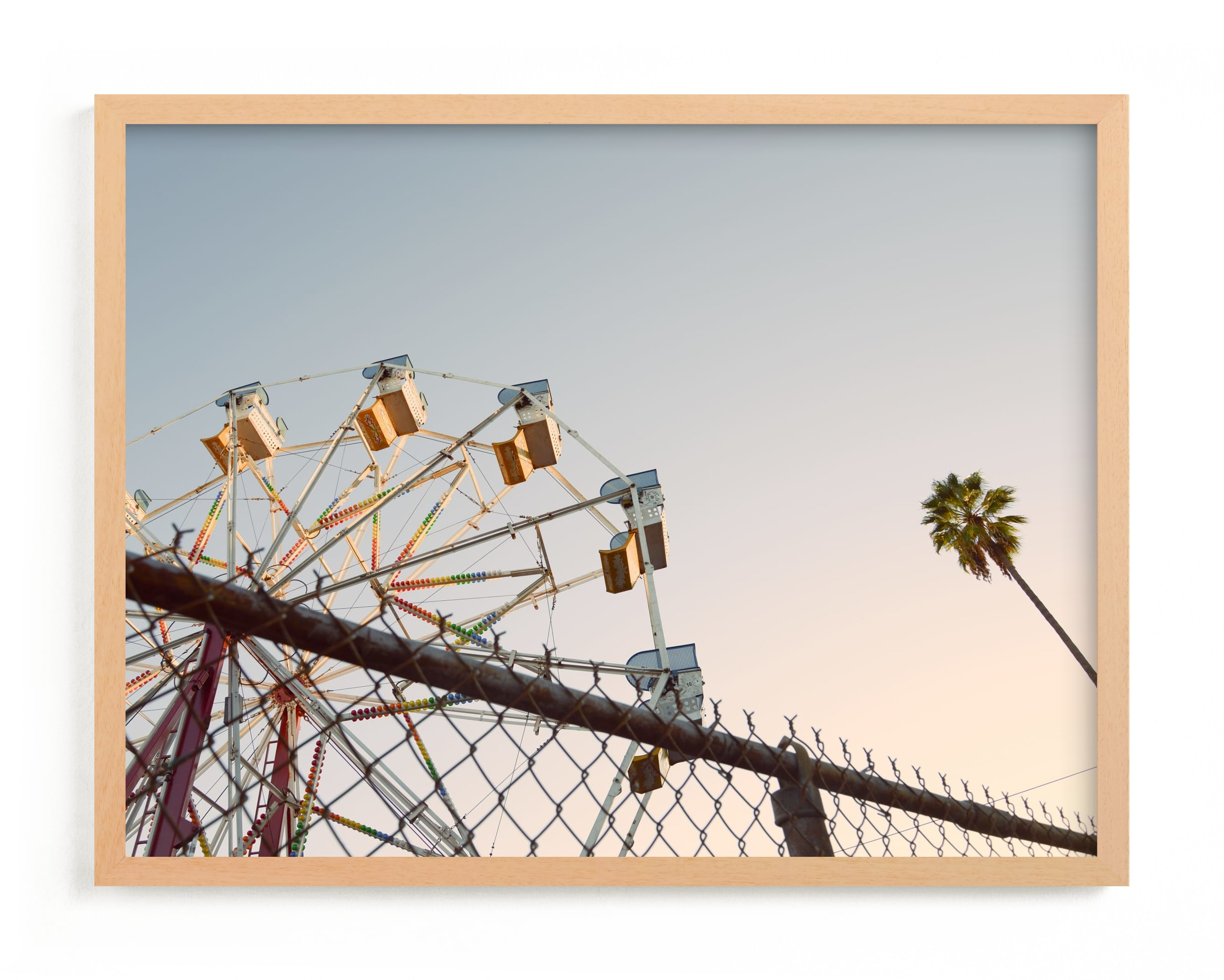 """LA Sky"" - Limited Edition Art Print by Kitty Seeber in beautiful frame options and a variety of sizes."