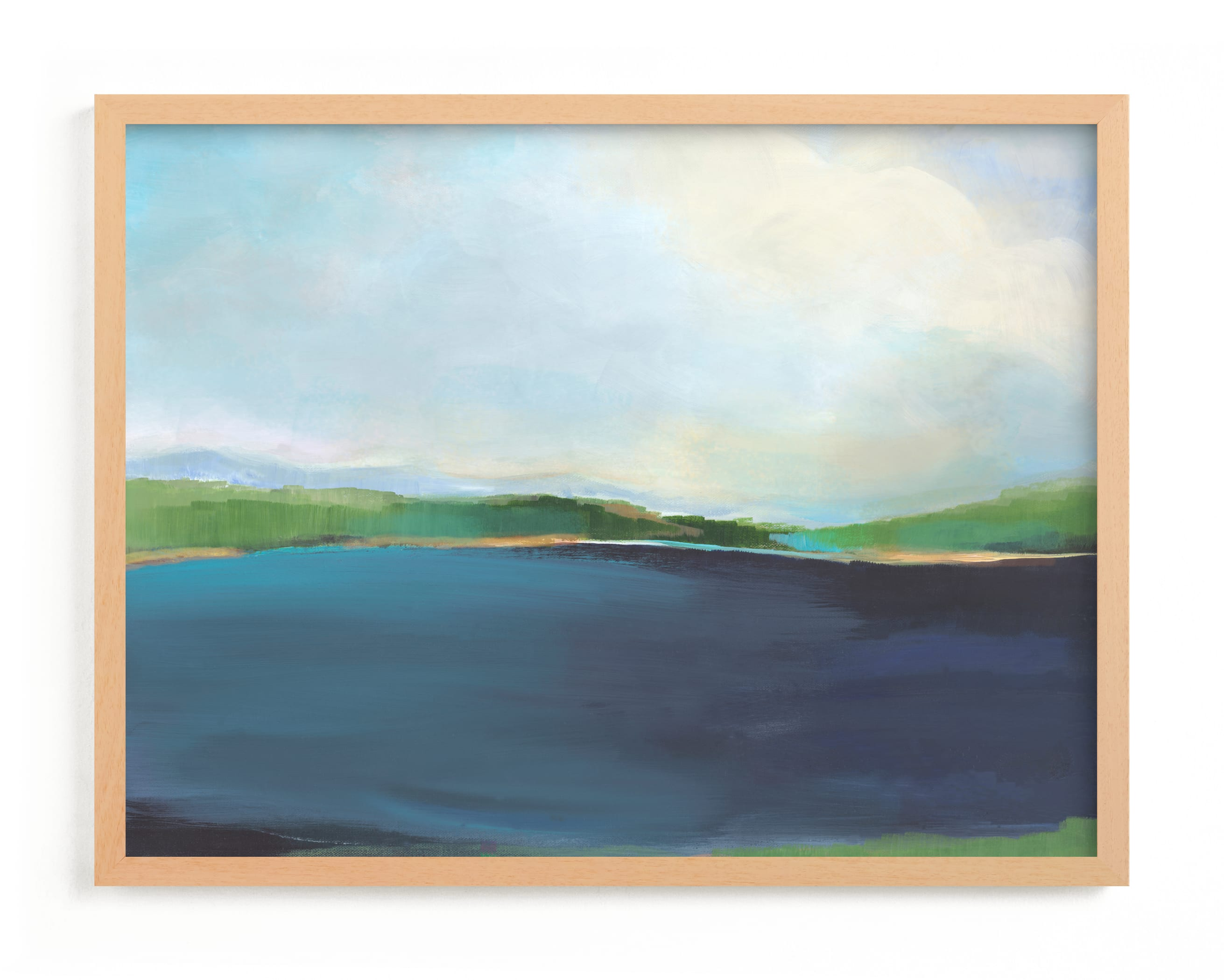 """Lake View"" - Grownup Open Edition Non-custom Art Print by Alison Jerry Designs in beautiful frame options and a variety of sizes."