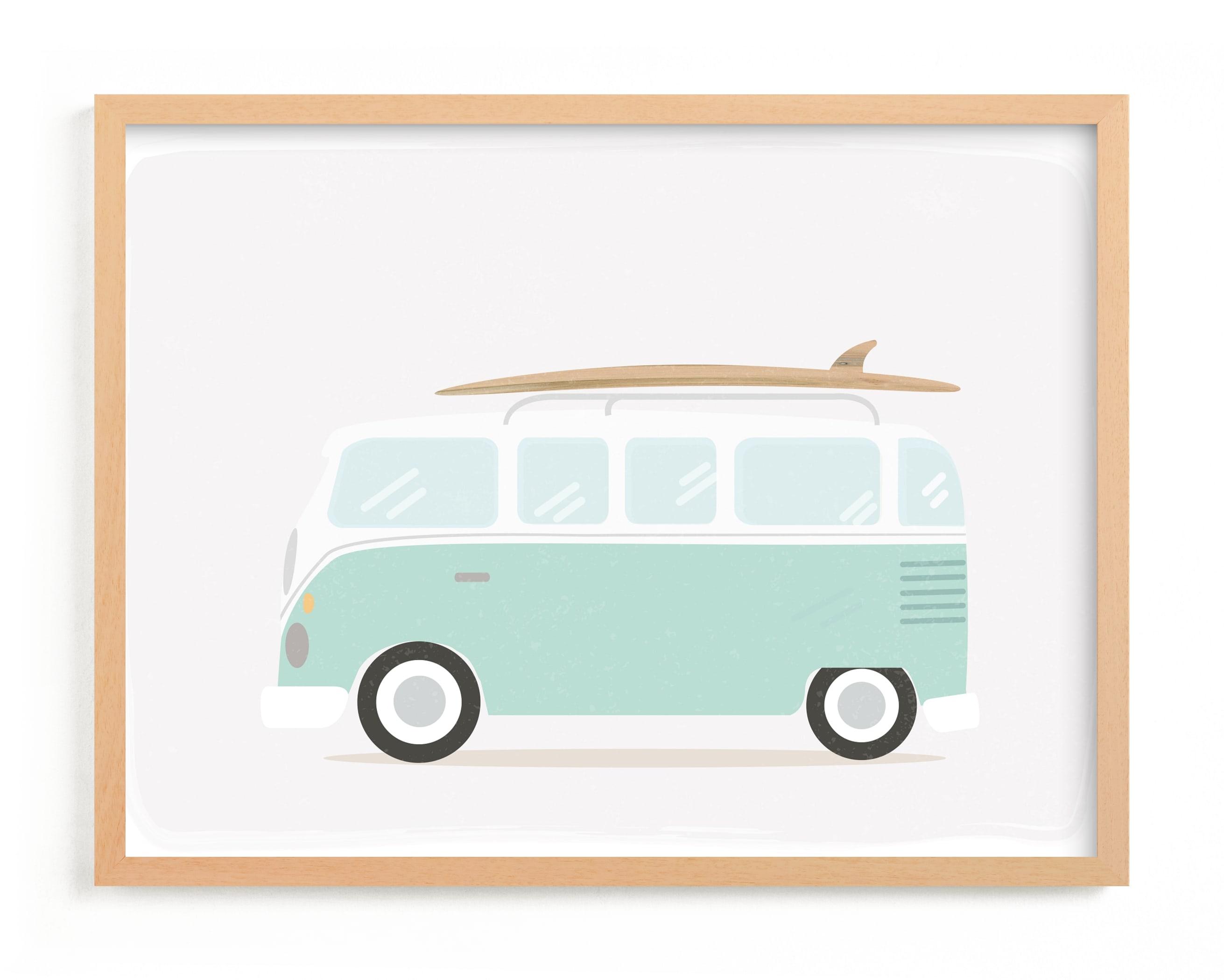 Beach Bus Children's Art Print