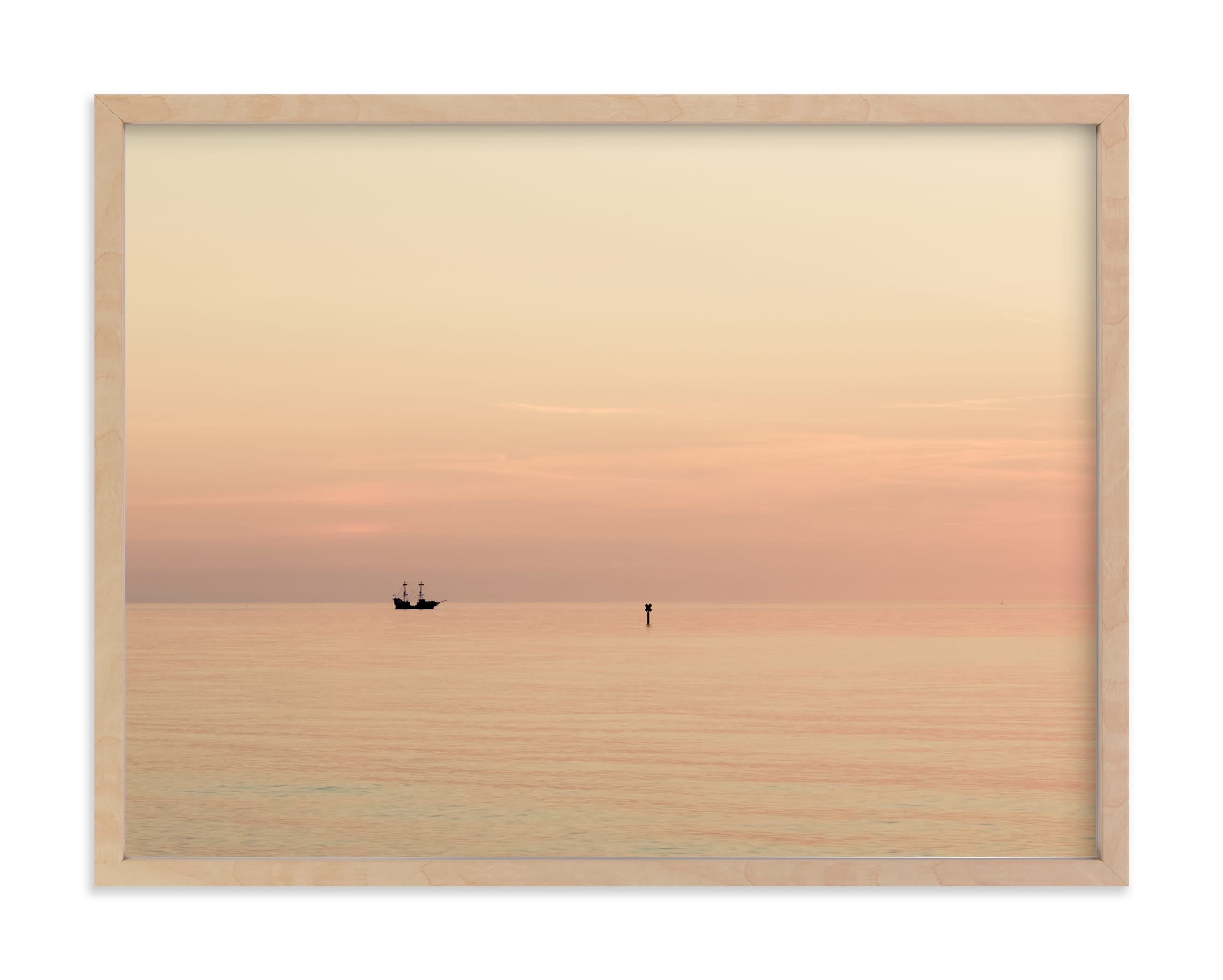 """""""Alone at sea I"""" by Lying on the grass in beautiful frame options and a variety of sizes."""