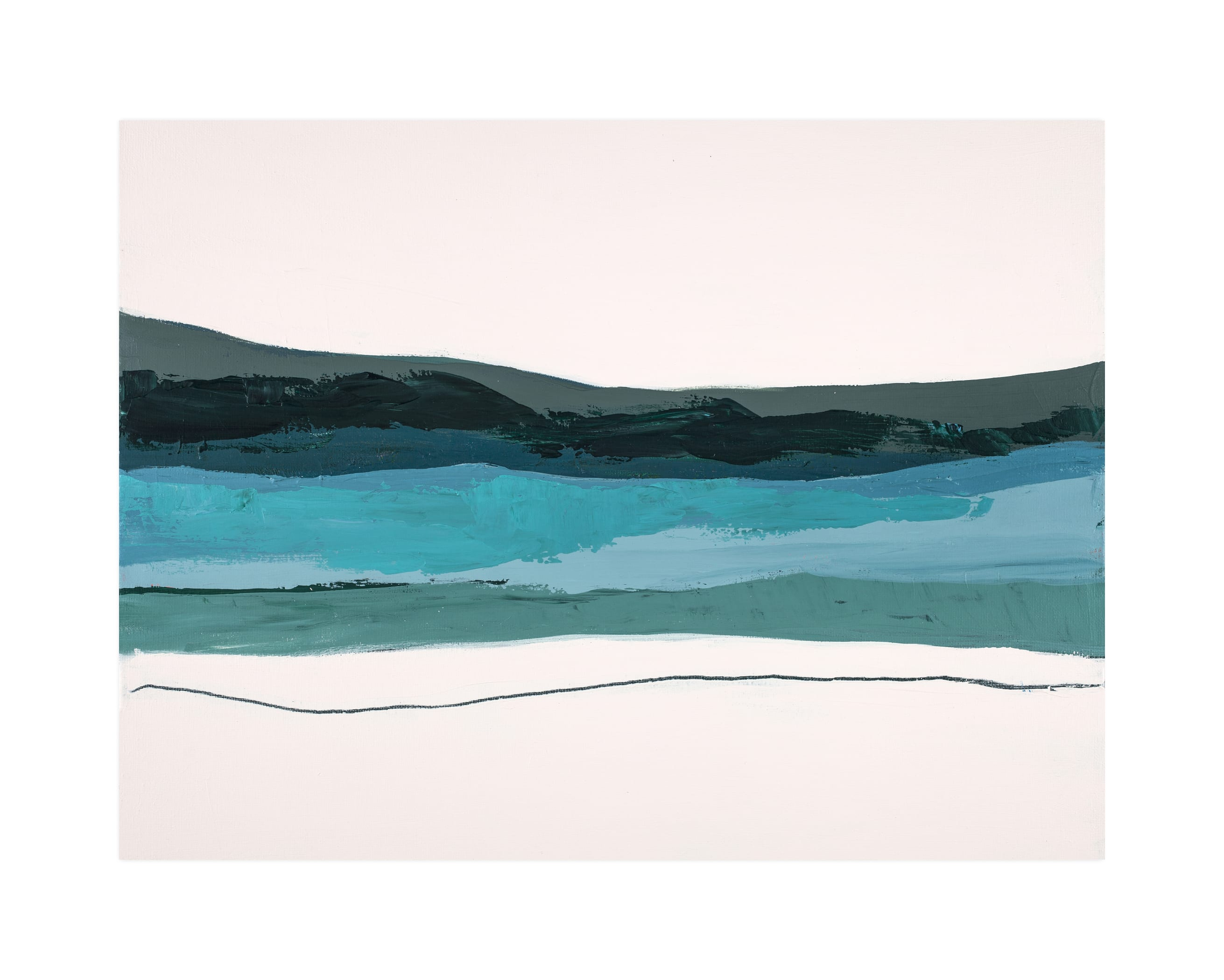 """Turquoise Wave"" by Caryn Owen in beautiful frame options and a variety of sizes."