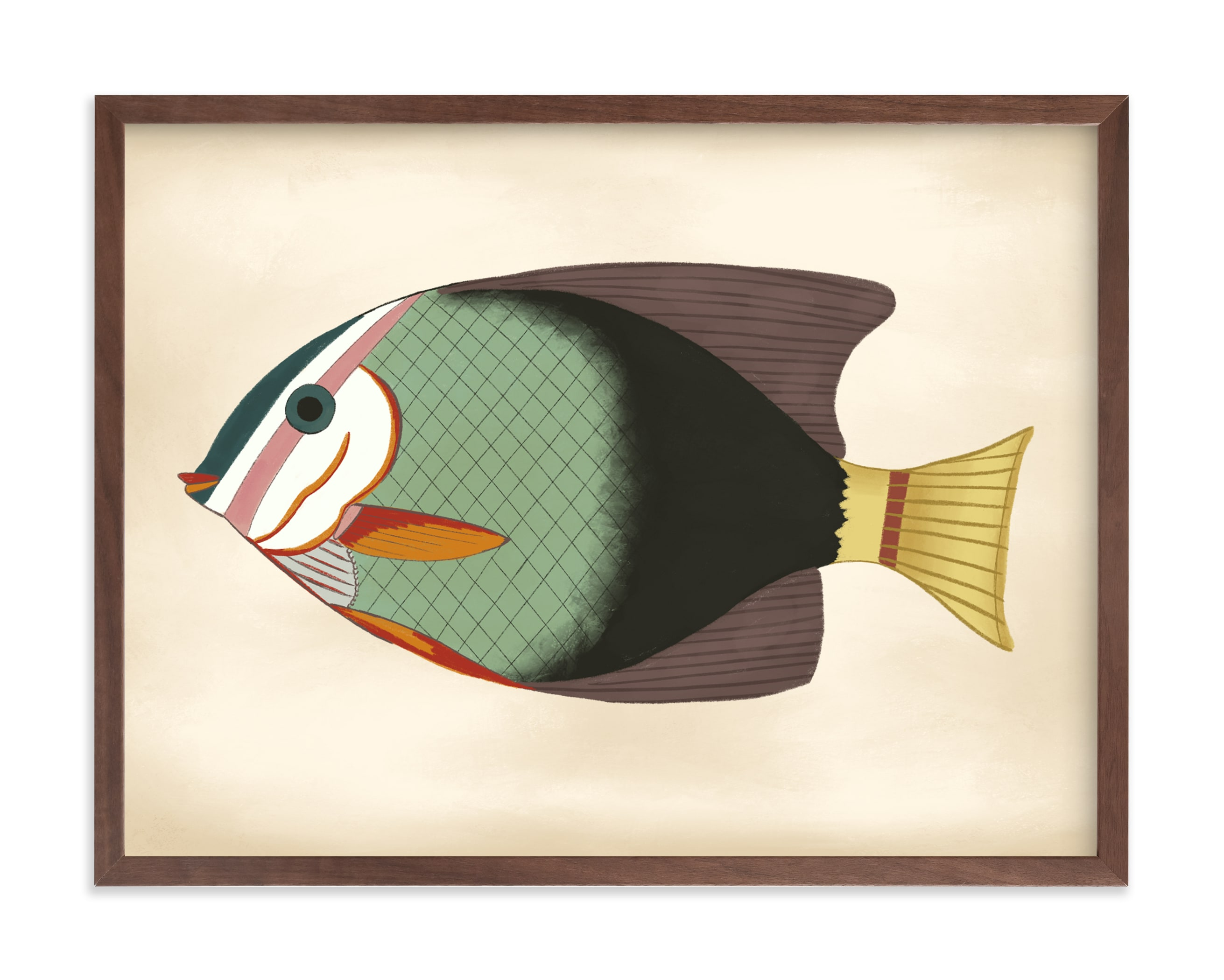 """""""Poissons No. 4"""" by Jessie Burch in beautiful frame options and a variety of sizes."""