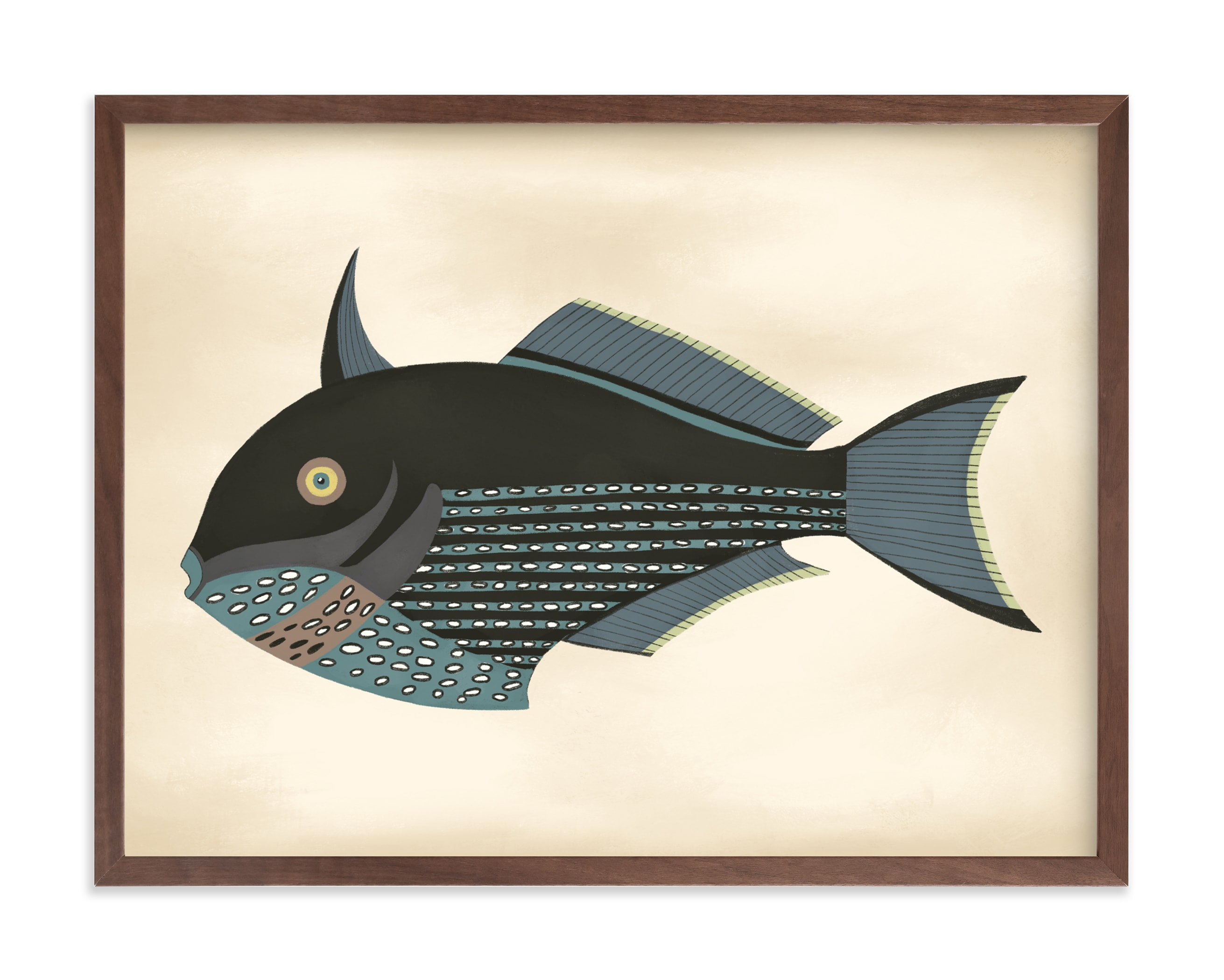 """""""Poissons No. 5"""" by Jessie Burch in beautiful frame options and a variety of sizes."""