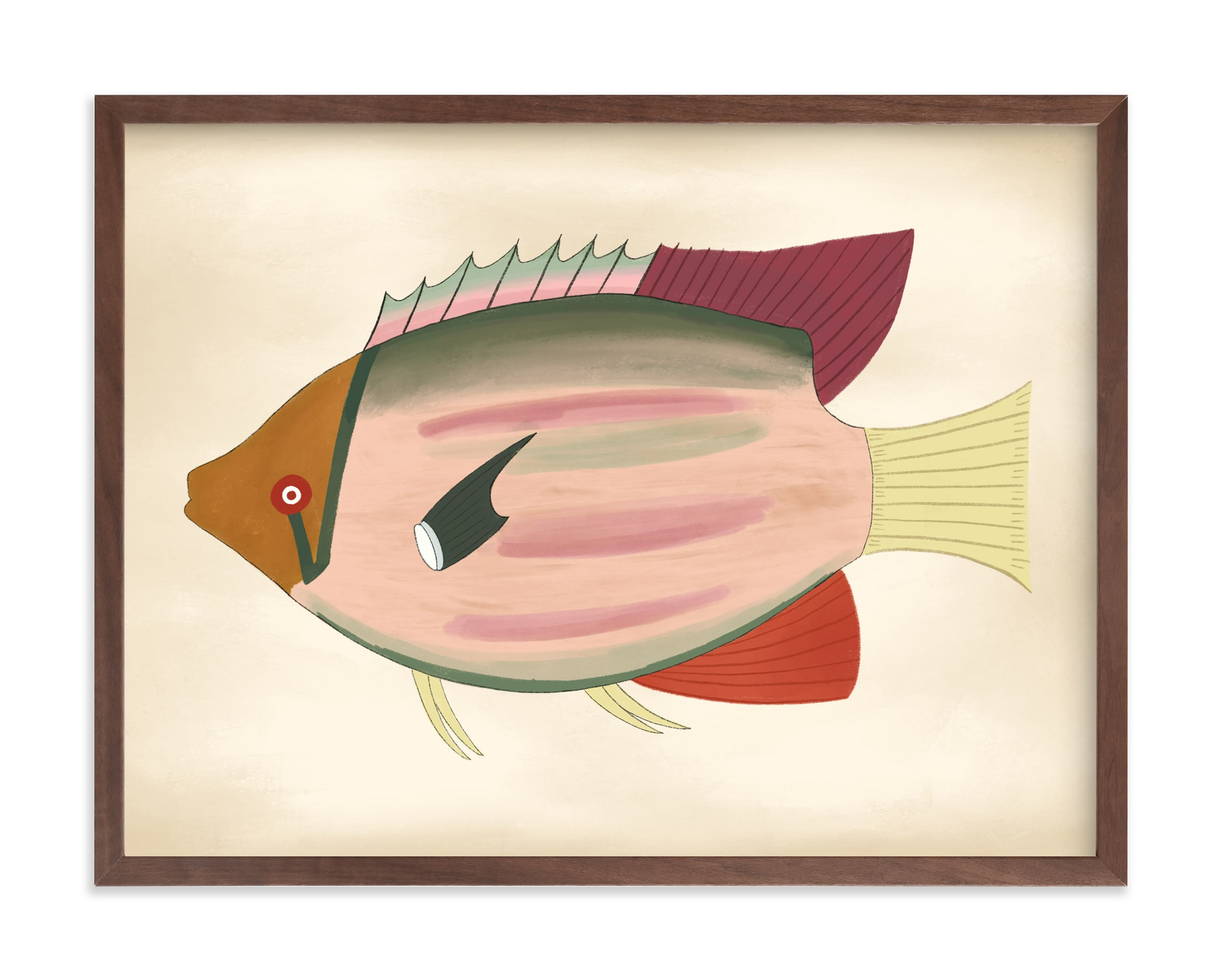 """Poissons No. 6"" by Jessie Burch in beautiful frame options and a variety of sizes."