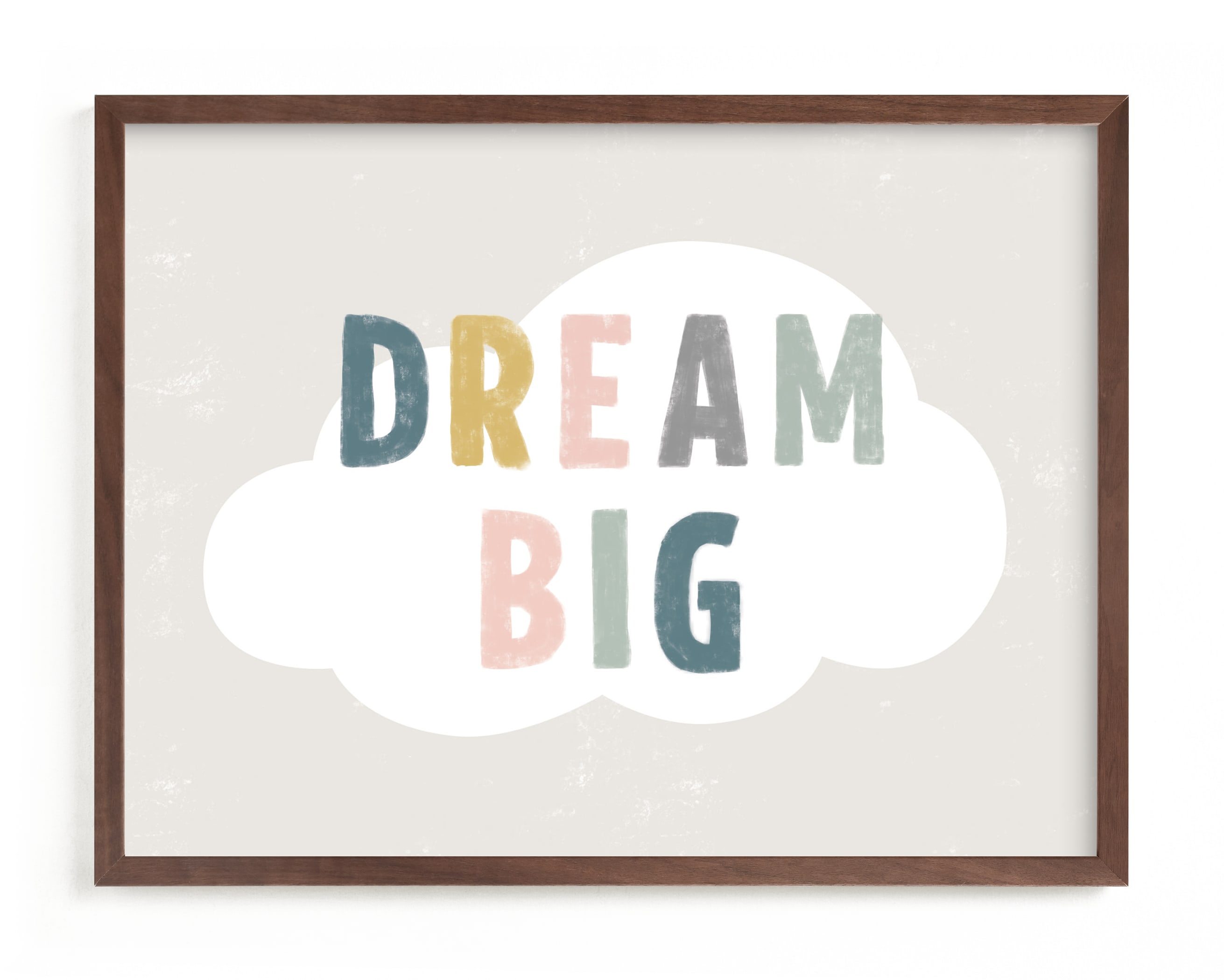 """Dream BIG"" - Limited Edition Art Print by Pixel and Hank in beautiful frame options and a variety of sizes."