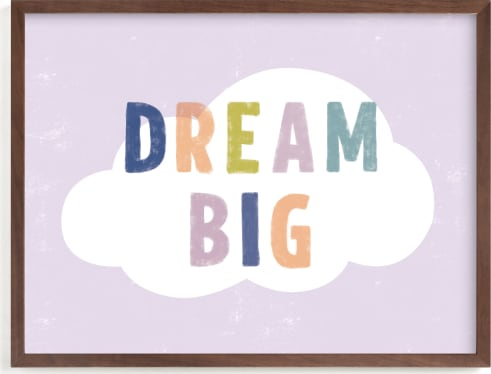 This is a colorful nursery wall art by Pixel and Hank called Dream BIG.