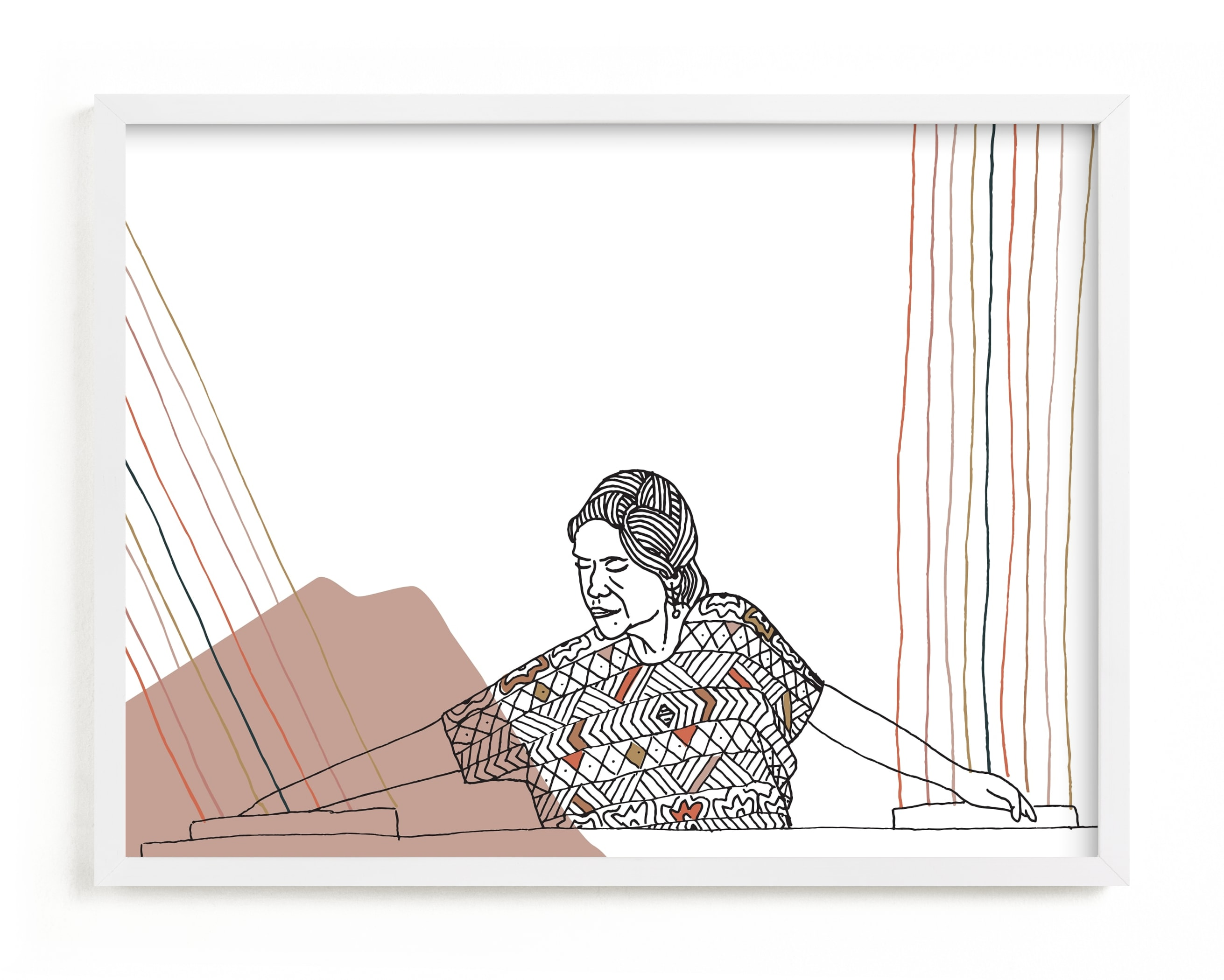Woven Women II Art Print