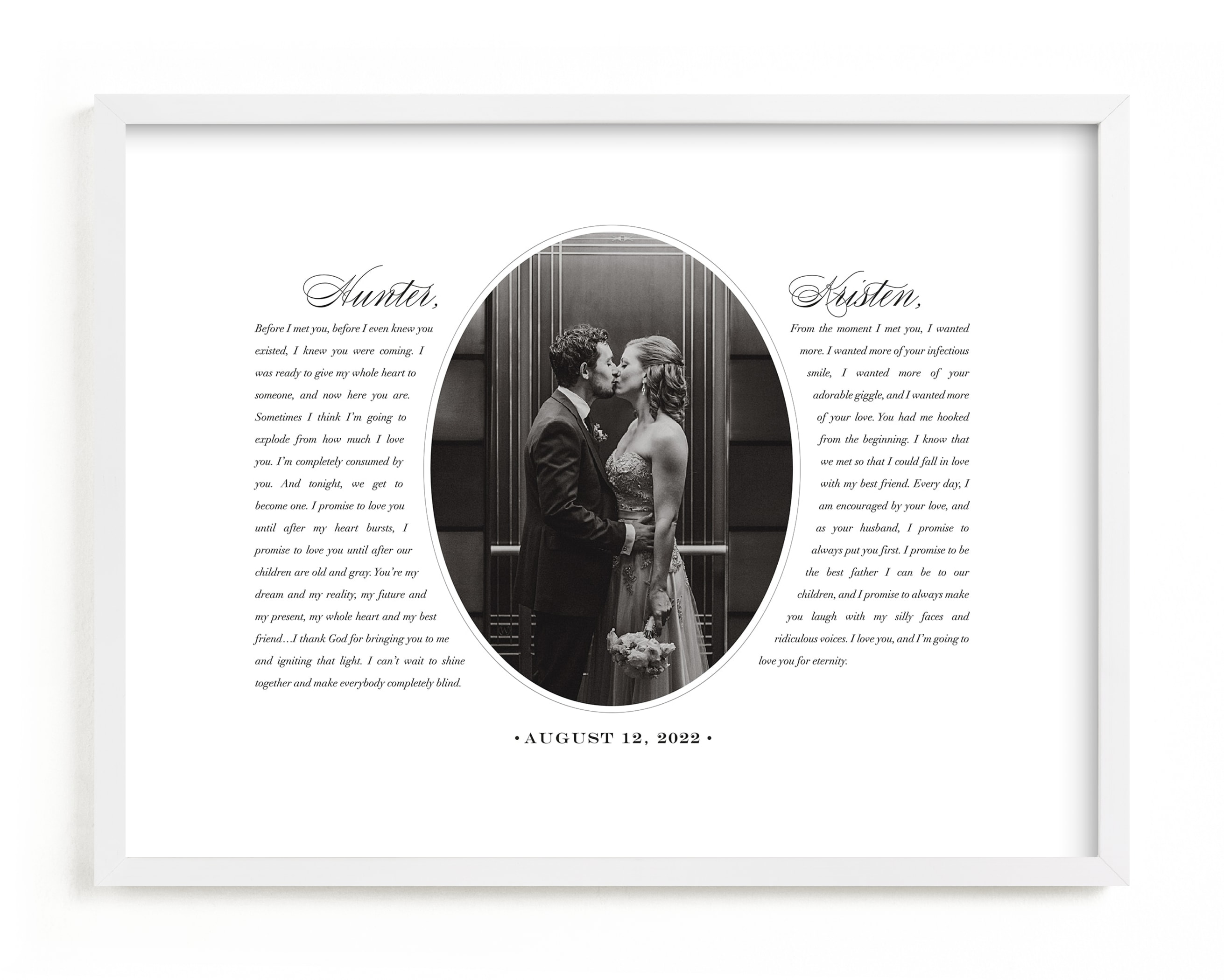 """Our Vows"" - Custom Photo Art Print by Sarah Curry in beautiful frame options and a variety of sizes."