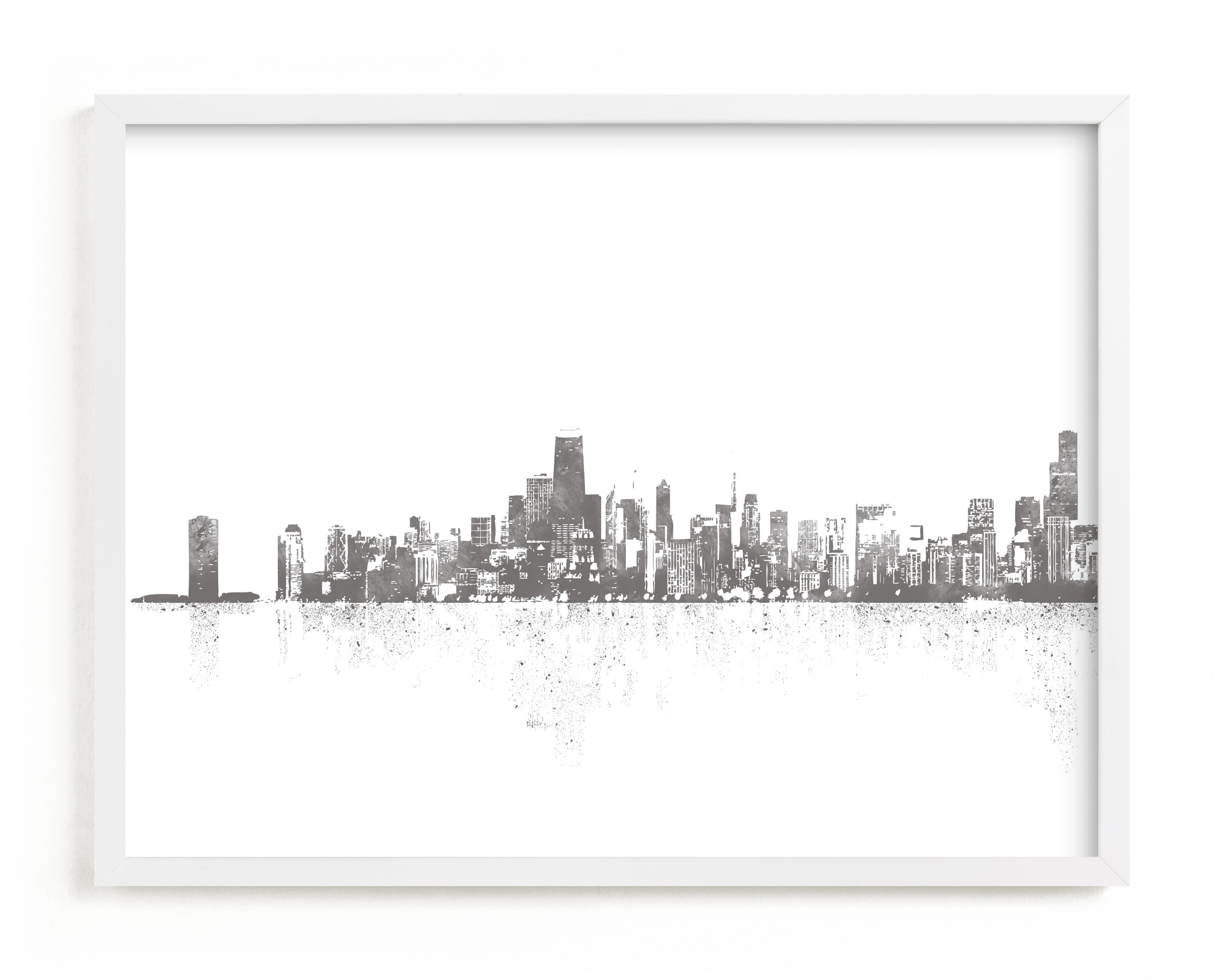 """""""Chicago Skyline"""" - Limited Edition Art Print by Paul Berthelot in beautiful frame options and a variety of sizes."""