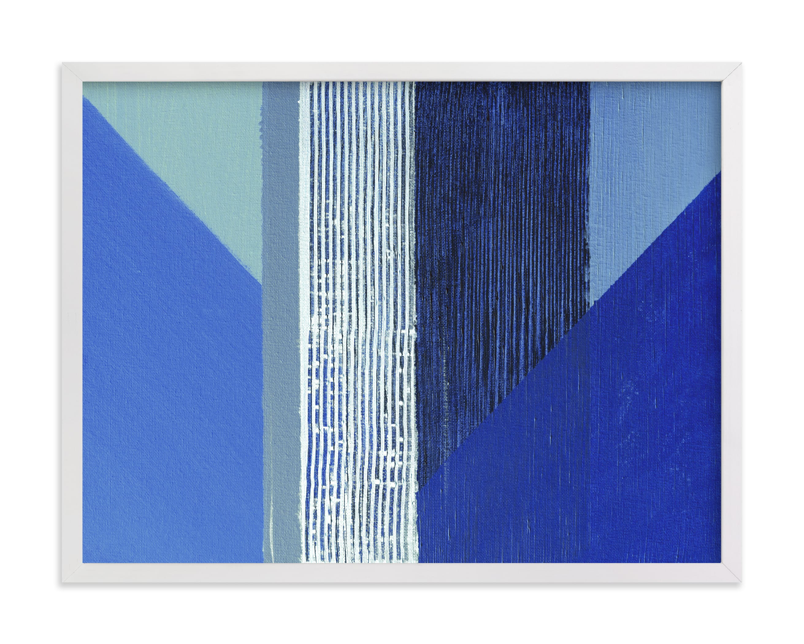 This is a blue art by Jen Florentine called Hues.
