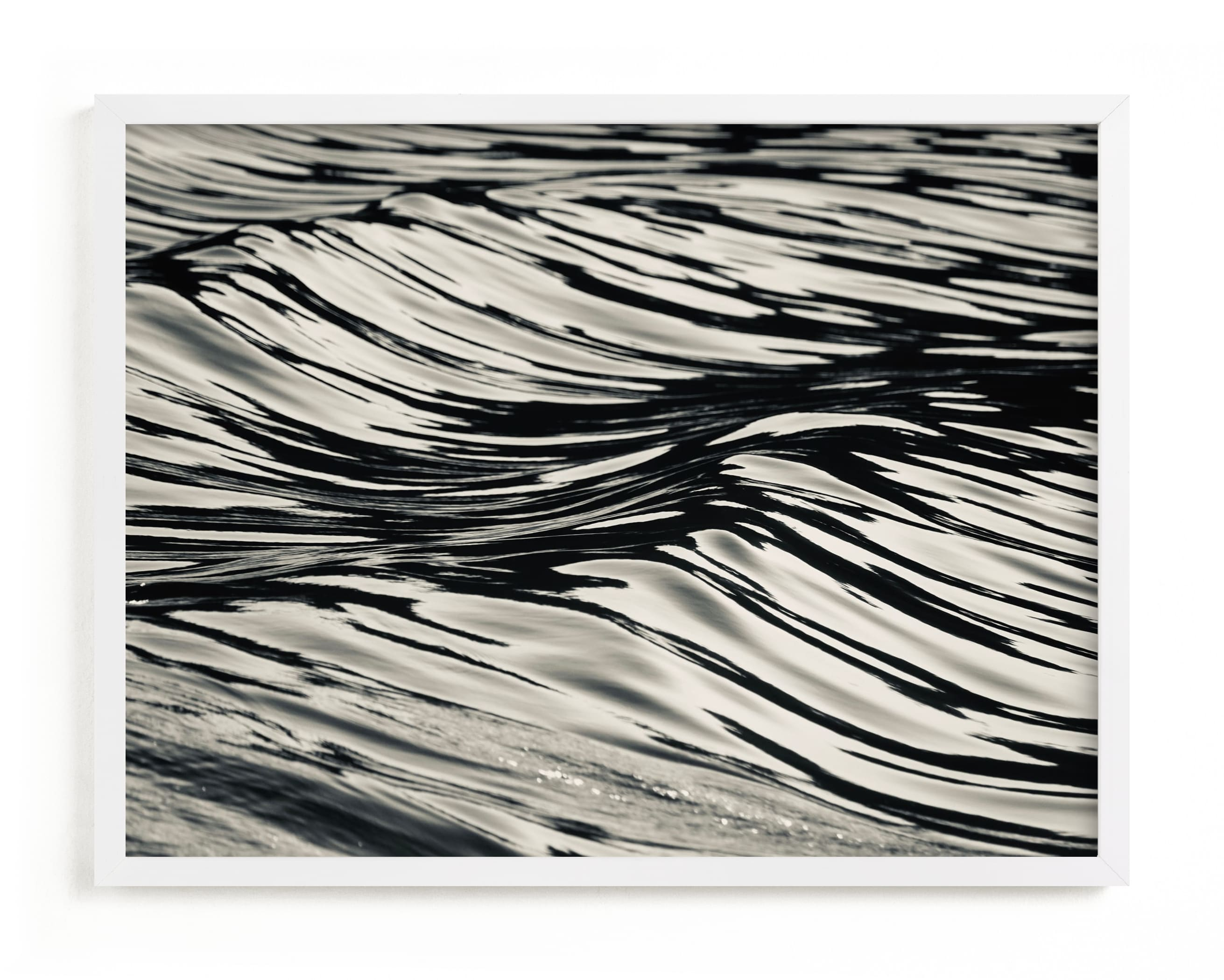 This is a black and white art by Jan Kessel called Wave Forms.