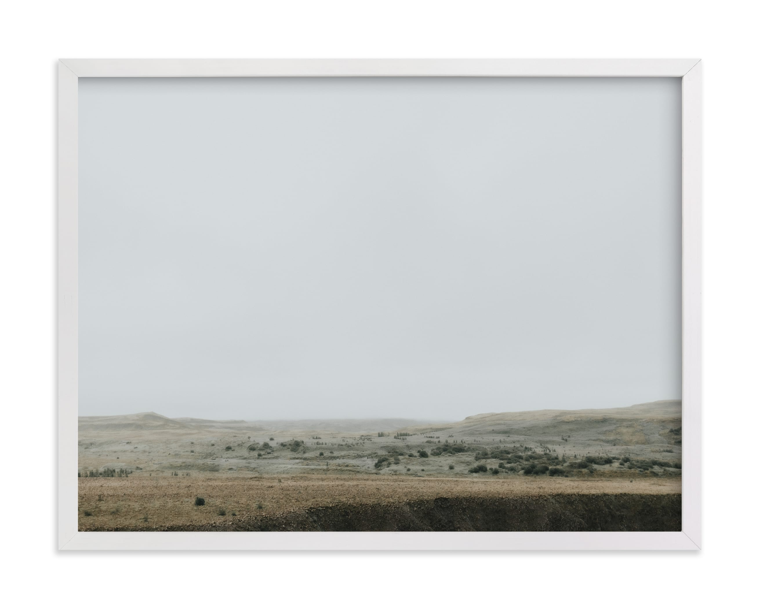 This is a grey art by Alicia Abla called Landscape under Fog.