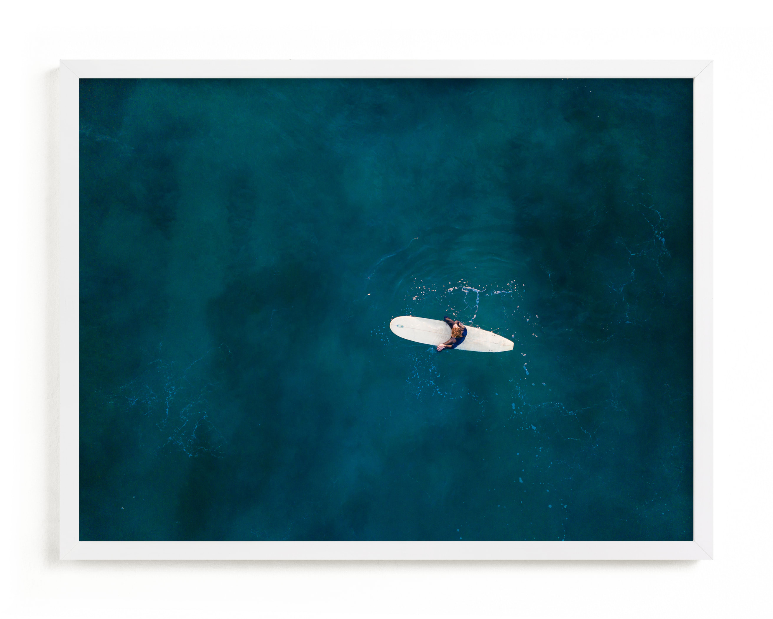 """Waiting on Waves"" - Limited Edition Art Print by Jessica Rice in beautiful frame options and a variety of sizes."