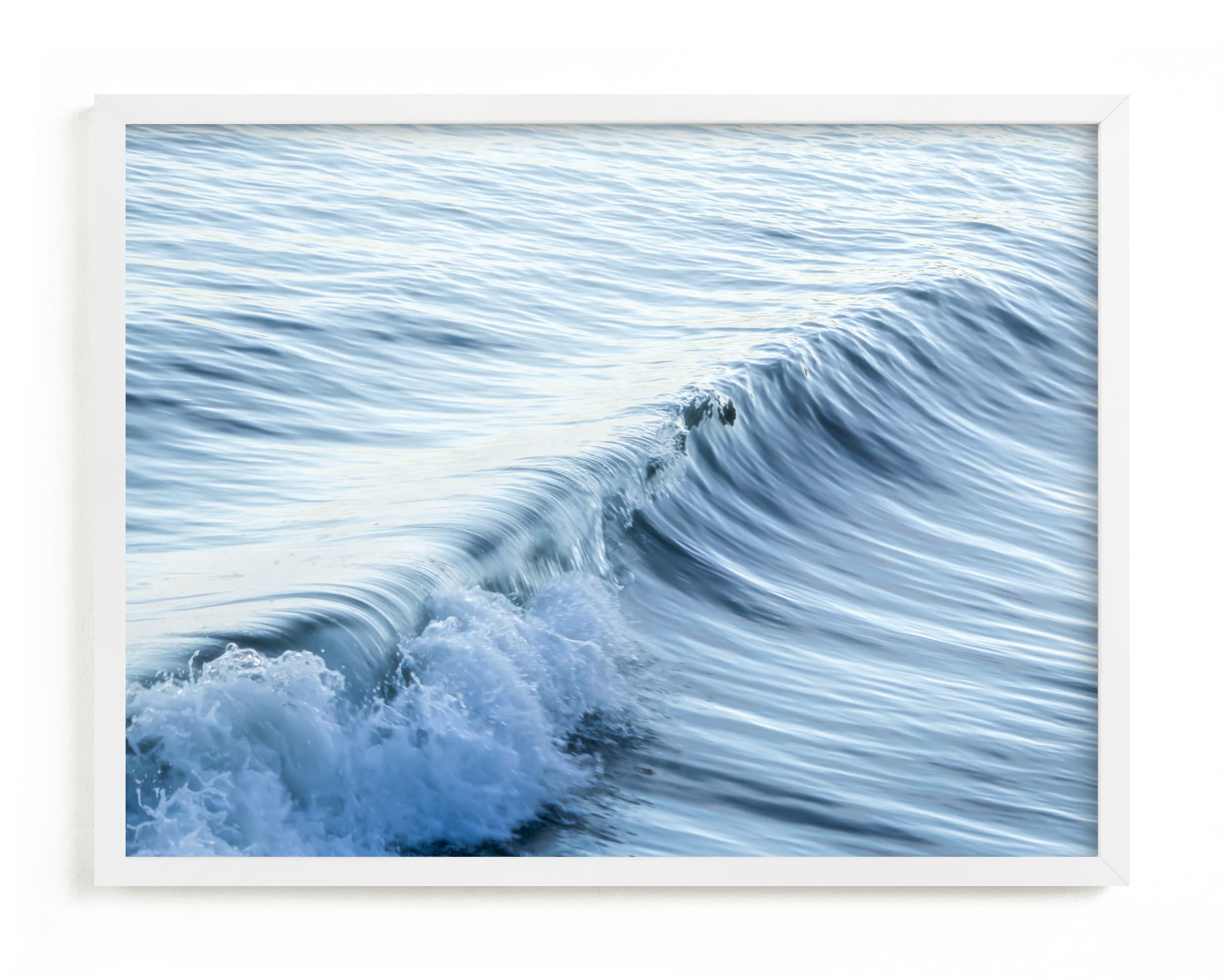 This is a blue art by Lisa Sundin called Cayucos Soft Waves .