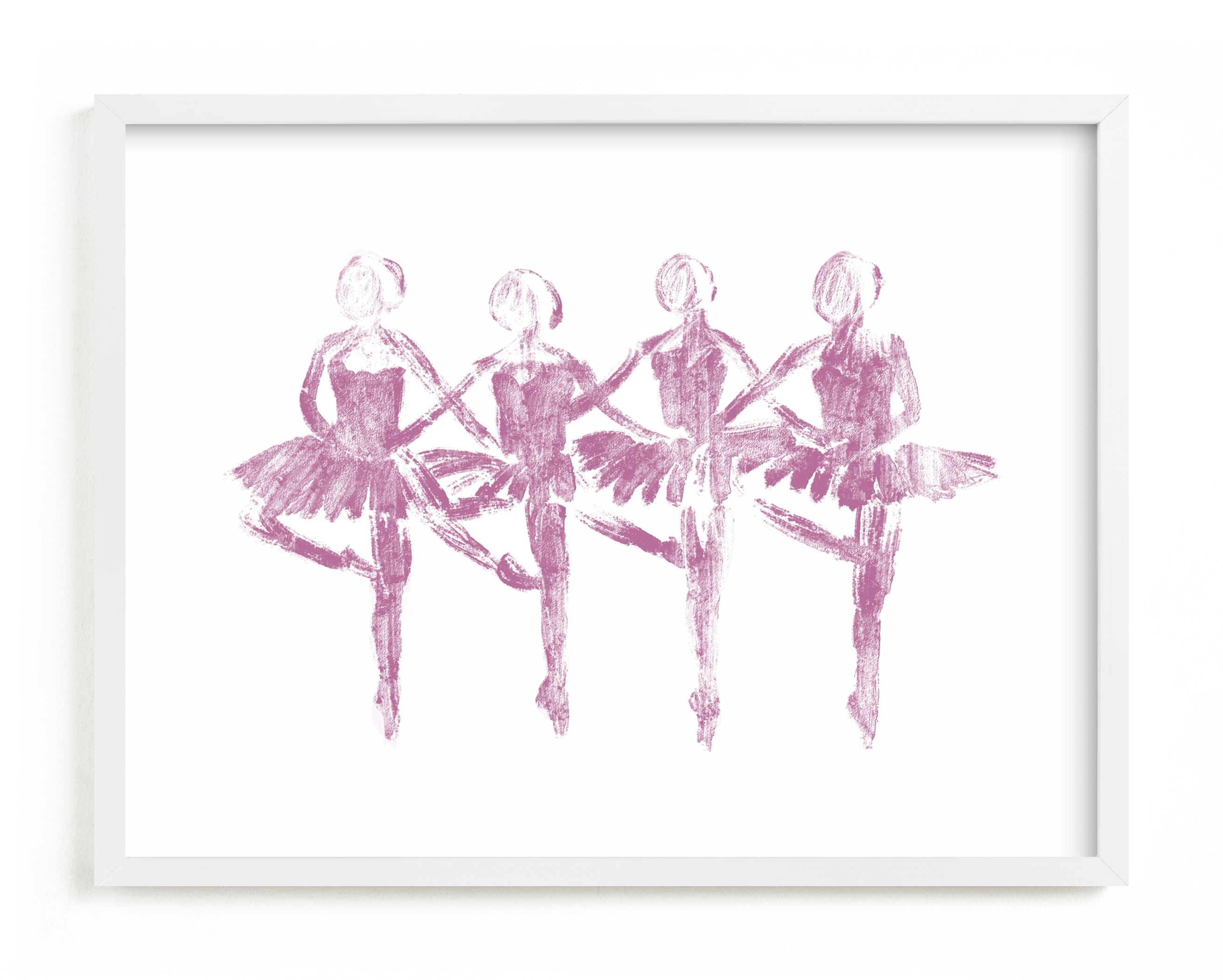 This is a purple kids wall art by Leanne Friedberg called Les Cygnets.