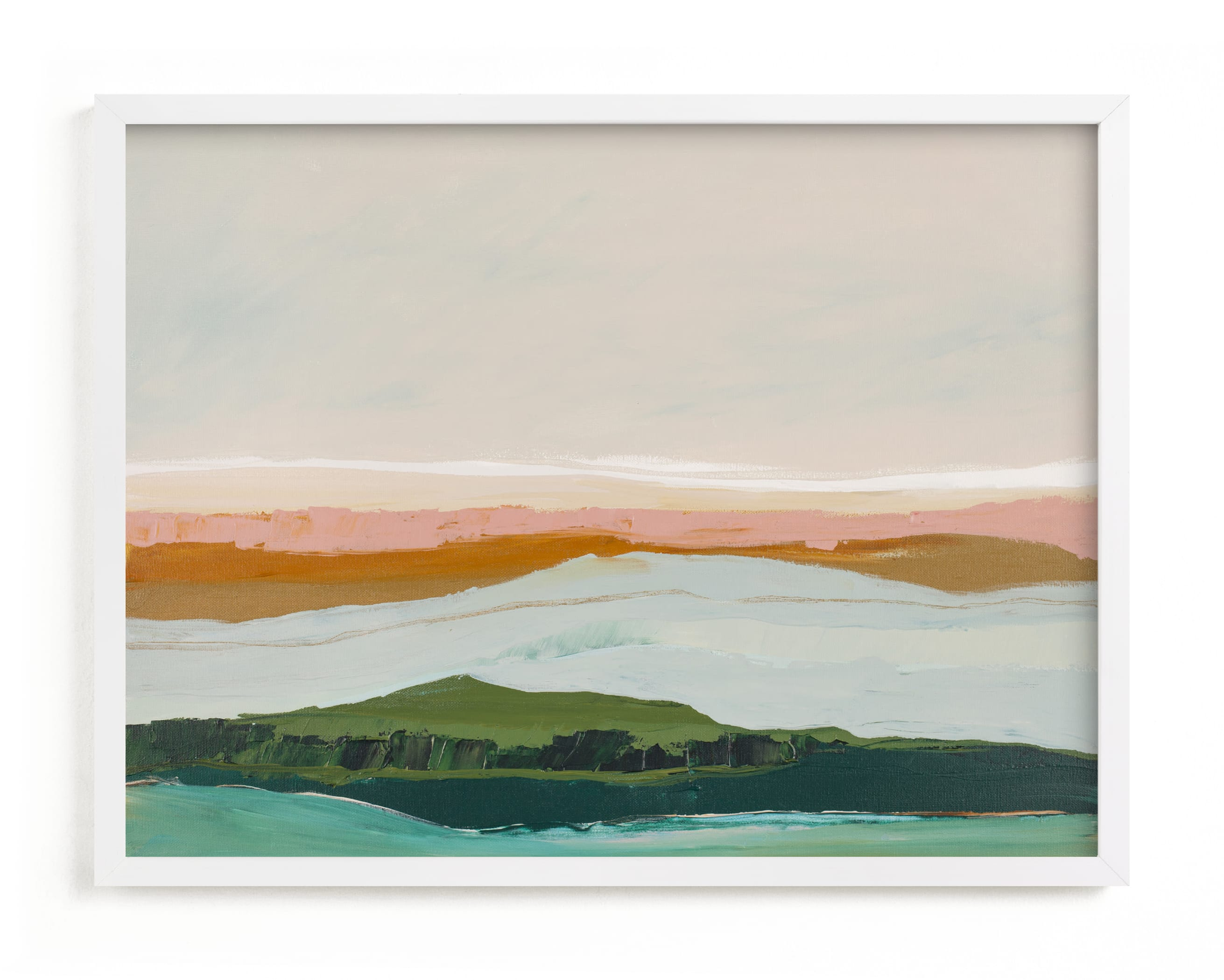 """Abstract Seascape Pt Reyes, California"" - Art Print by Caryn Owen in beautiful frame options and a variety of sizes."
