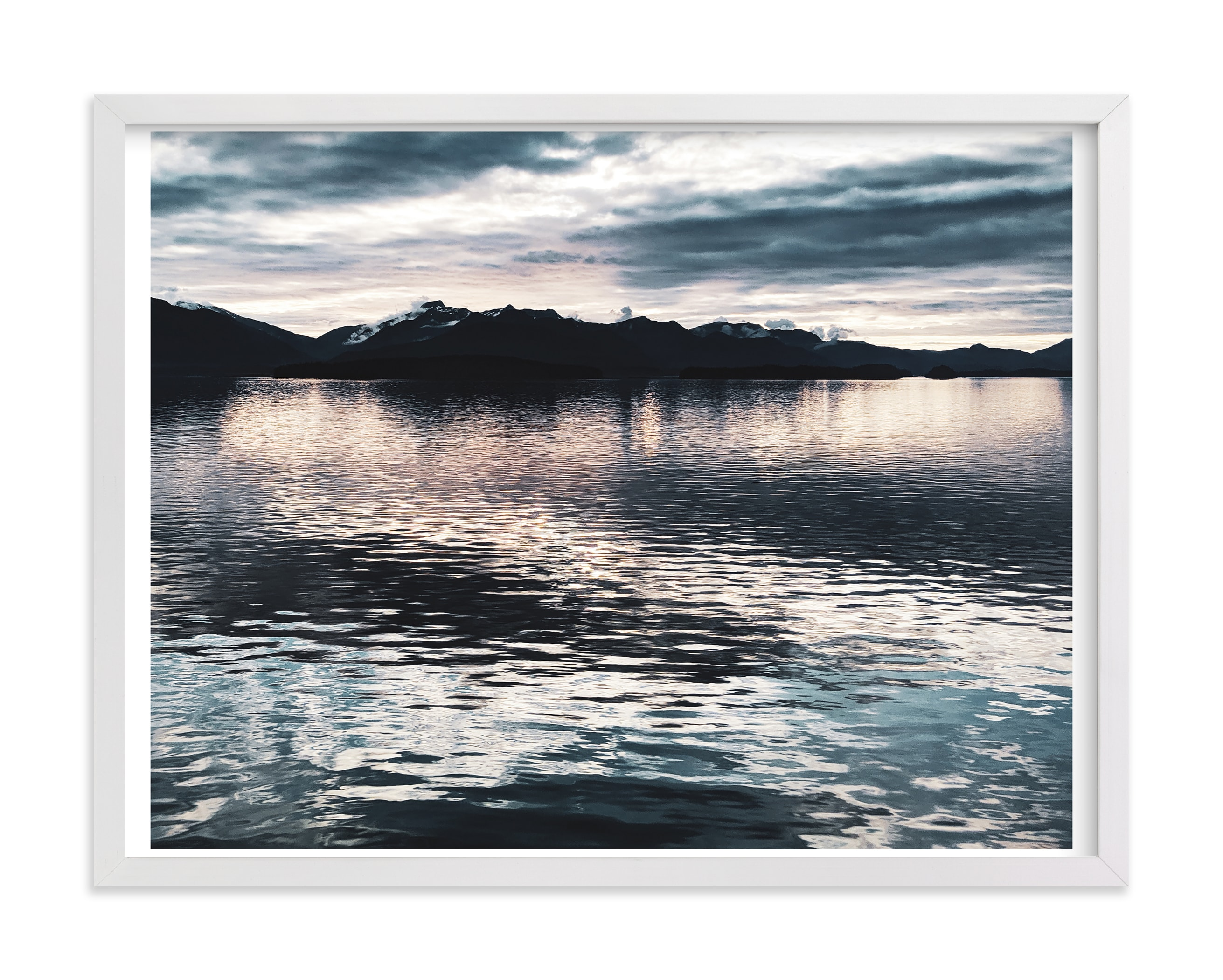 """""""Juneau from the Sea"""" by Loree Mayer in beautiful frame options and a variety of sizes."""