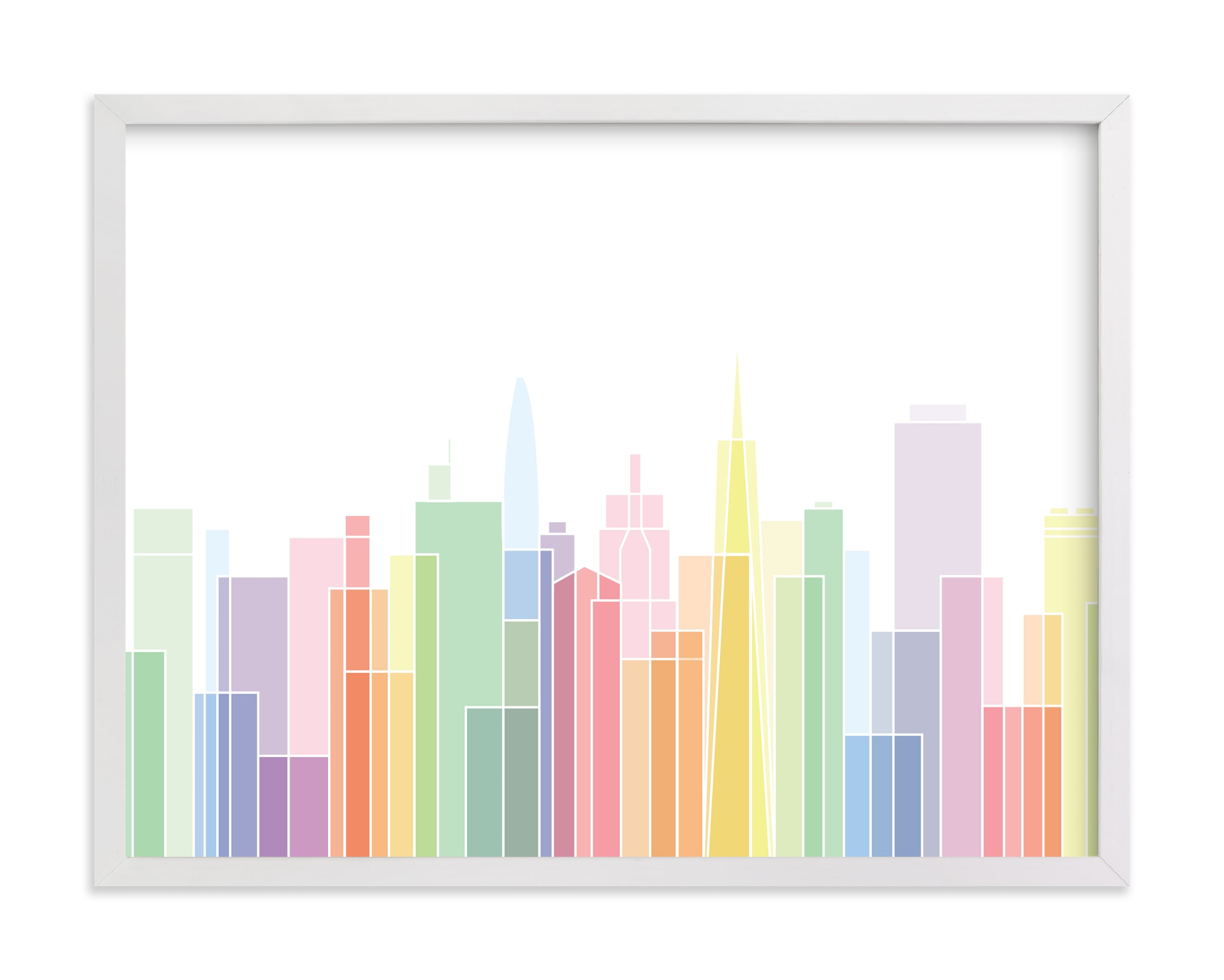 """""""San Francisco Sky Lines"""" by Jessie Steury in beautiful frame options and a variety of sizes."""