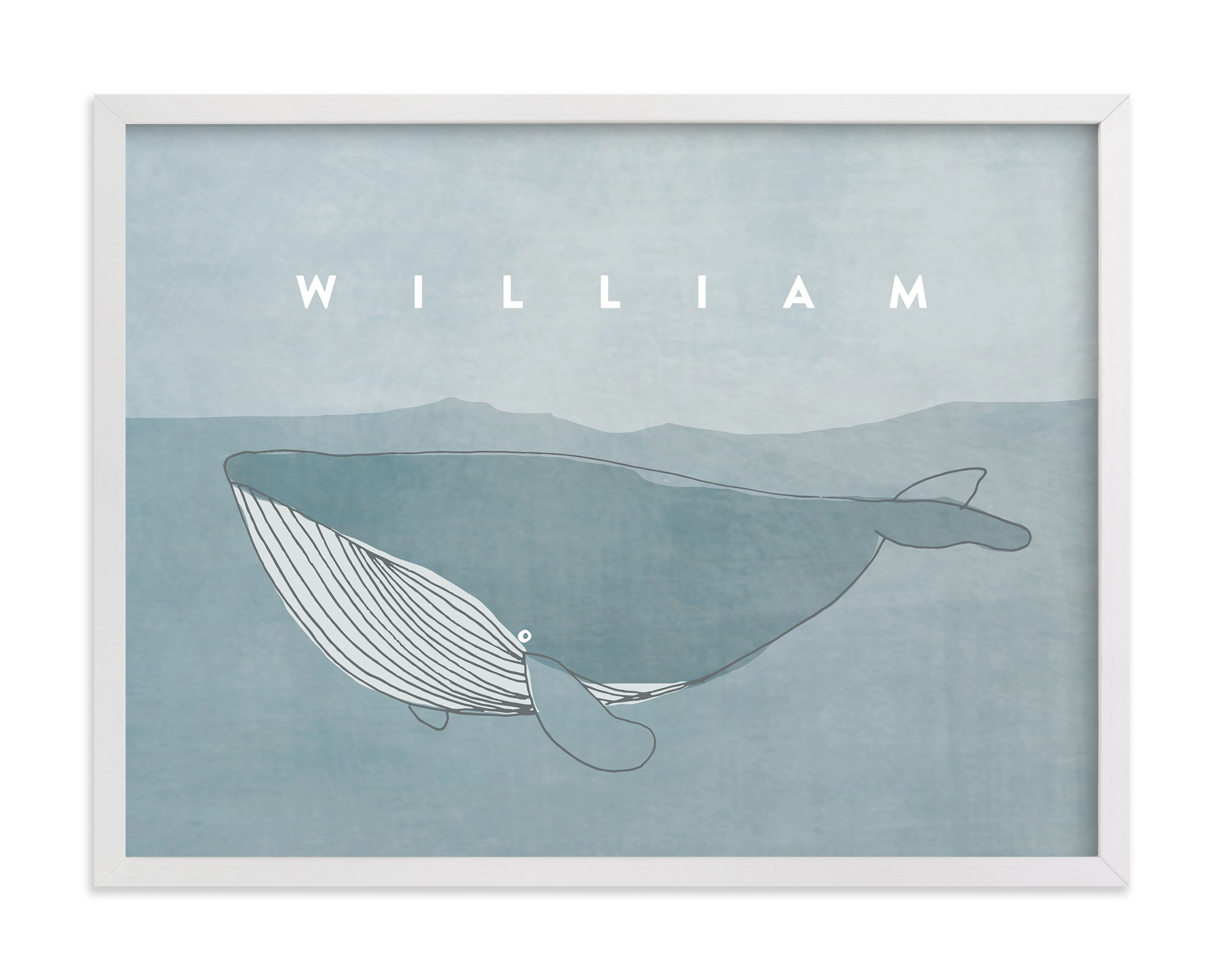 """""""Sweet Whale"""" - Nursery Custom Art Print by Lucrecia in beautiful frame options and a variety of sizes."""