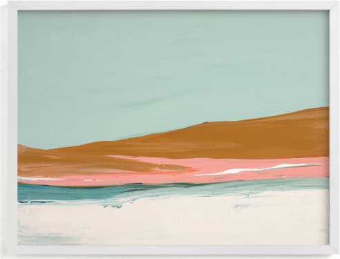 This is a blue art by Caryn Owen called Sand Dunes.