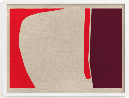 This is a red art by Alain Castoriano called A-walk around the block.