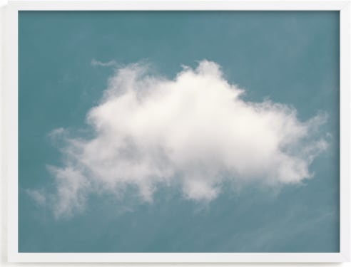 This is a blue art by Tania View called Cloud in the Sky.