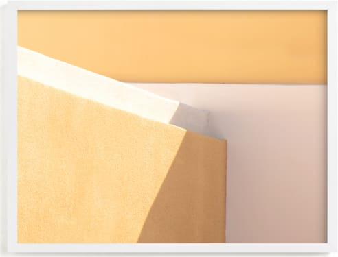 This is a white art by Lisa Sundin called City Block Tetris.