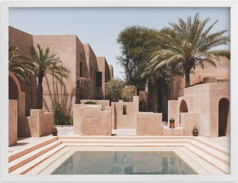 This is a blue art by Meredith Acton called Desert Oasis.