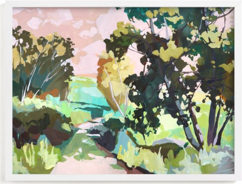 This is a yellow art by Jess Franks called Dappled Light.