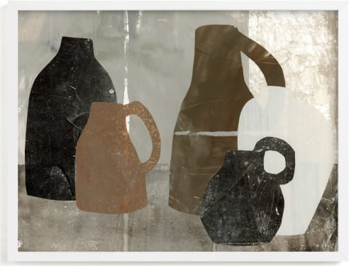 This is a brown art by Jennifer Daily called At The Table 1.
