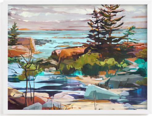 This is a blue art by Jess Franks called For Shore.