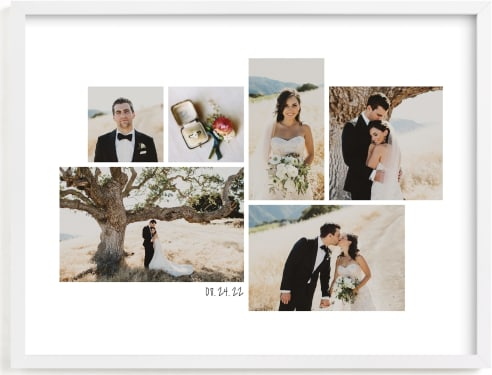 This is a white photo art by Hooray Creative called Wedding Moments Landscape.