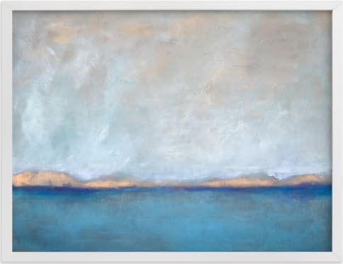 This is a blue art by Julia Contacessi called Linen Coast.
