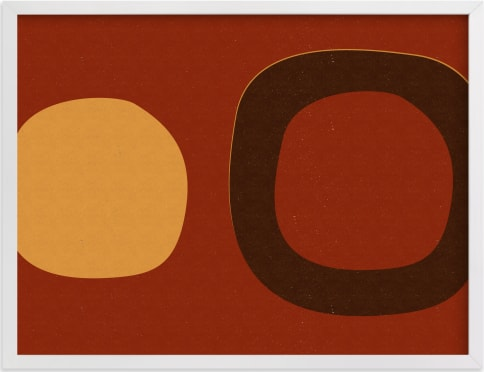 This is a brown art by Alain Castoriano called Circle_08-01- A.
