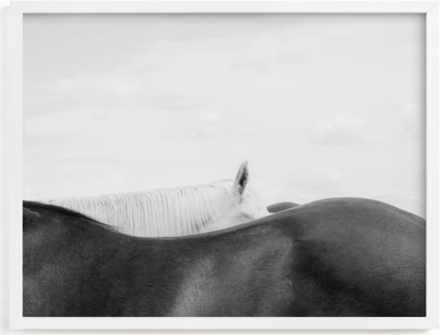 This is a black and white art by Sara Hicks Malone called peekaboo II.